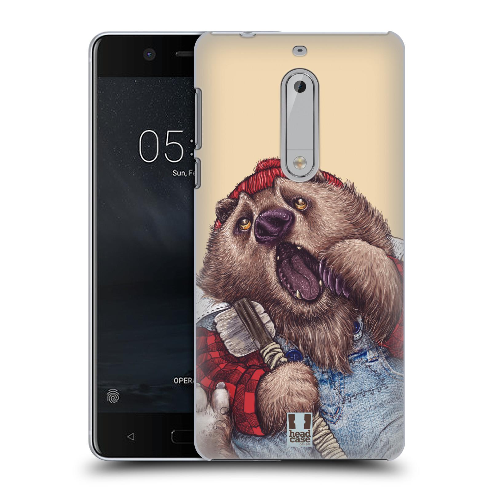 Plastové pouzdro na mobil Nokia 5 Head Case - ANIMPLA MEDVĚD