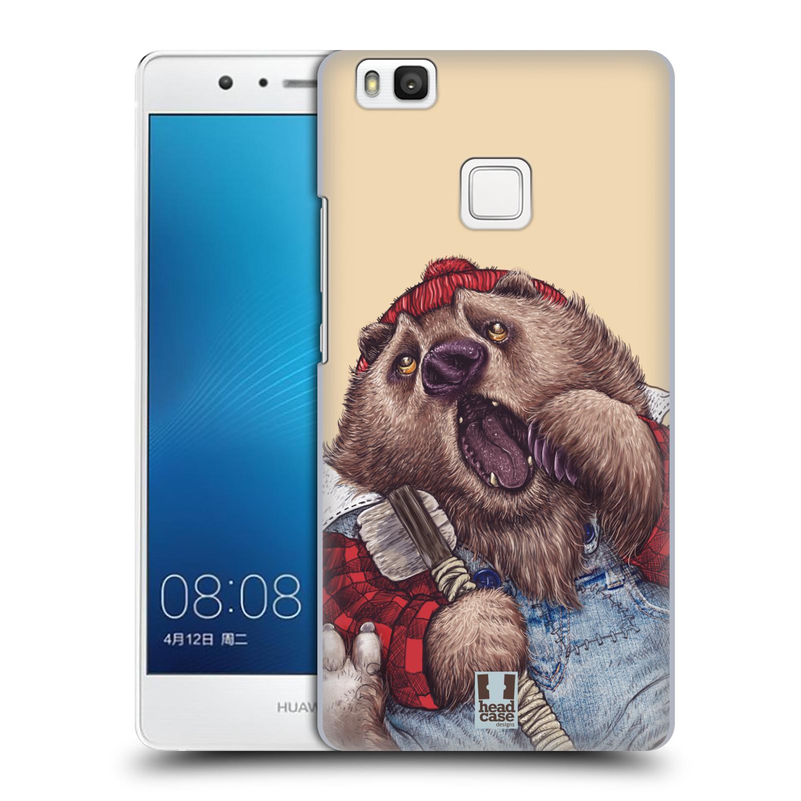 Plastové pouzdro na mobil Huawei P9 Lite HEAD CASE ANIMPLA MEDVĚD