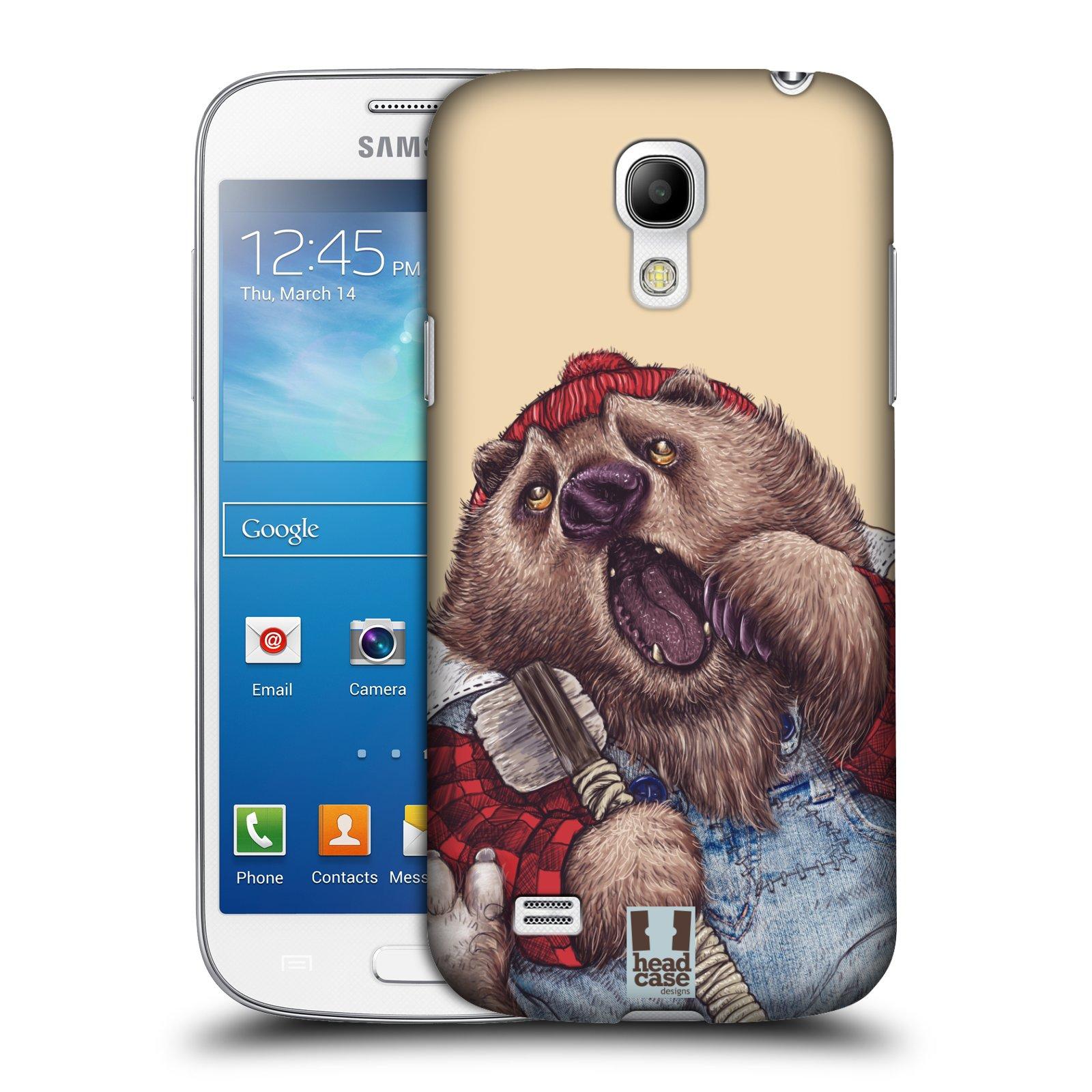 Plastové pouzdro na mobil Samsung Galaxy S4 Mini VE HEAD CASE ANIMPLA MEDVĚD