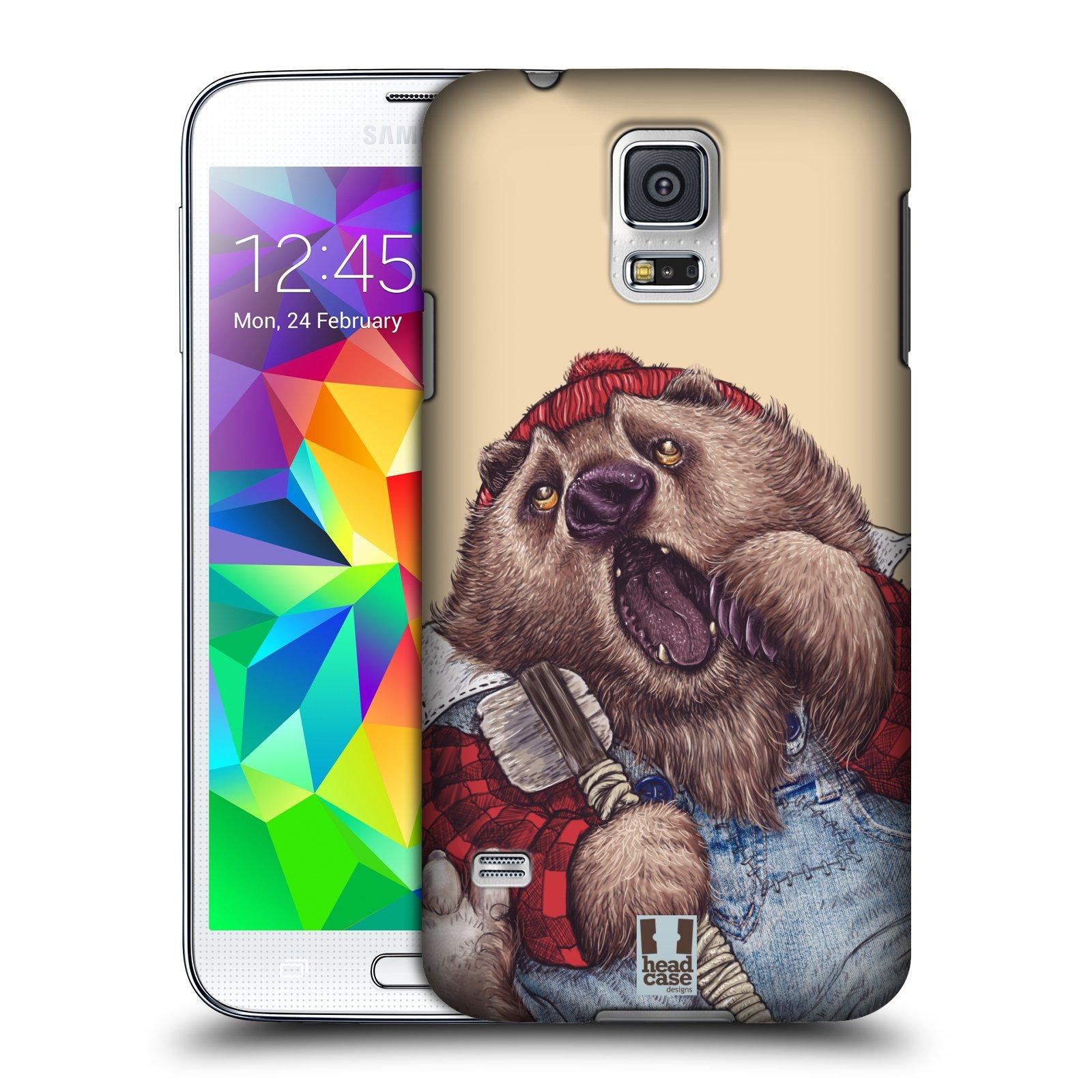 Plastové pouzdro na mobil Samsung Galaxy S5 HEAD CASE ANIMPLA MEDVĚD