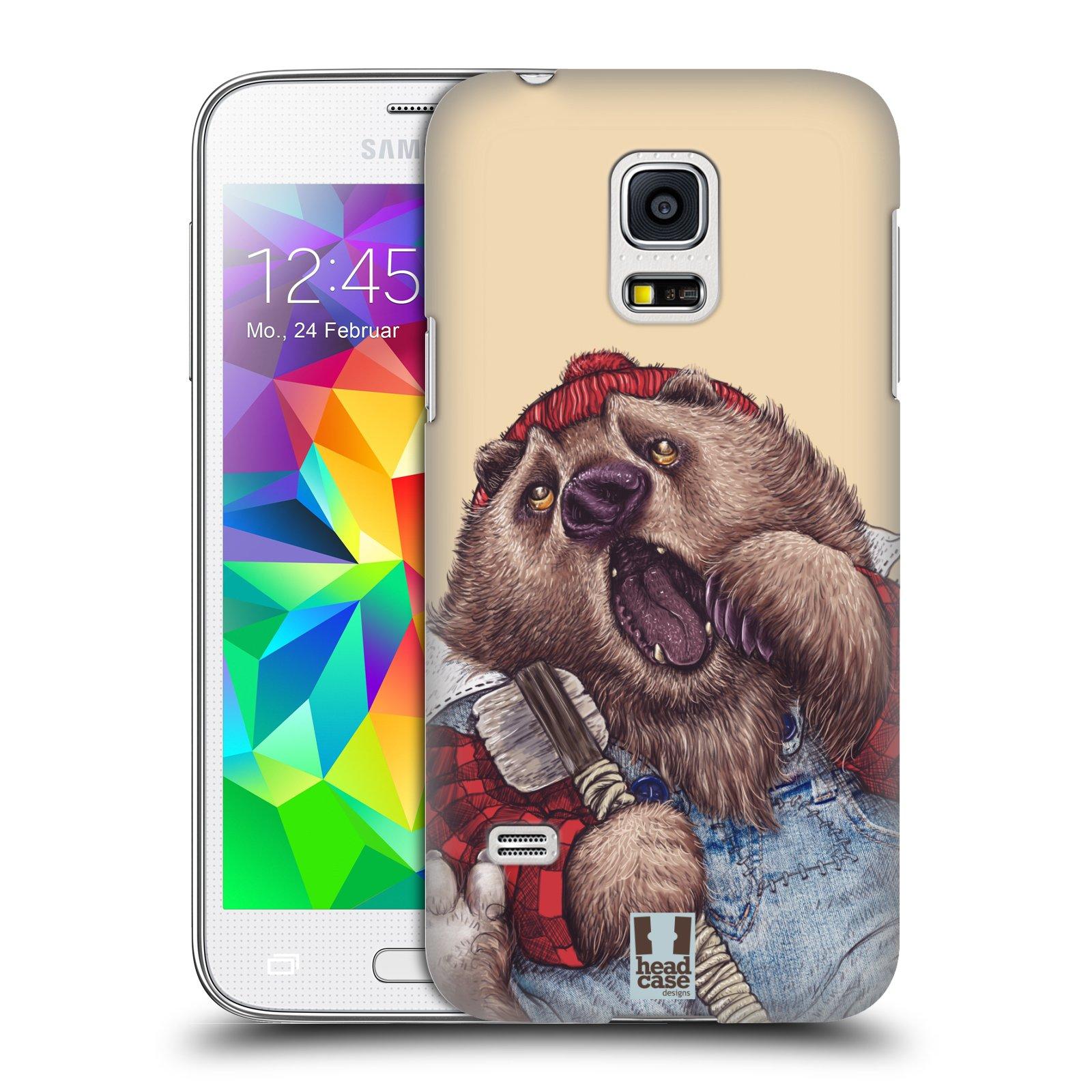 Plastové pouzdro na mobil Samsung Galaxy S5 Mini HEAD CASE ANIMPLA MEDVĚD