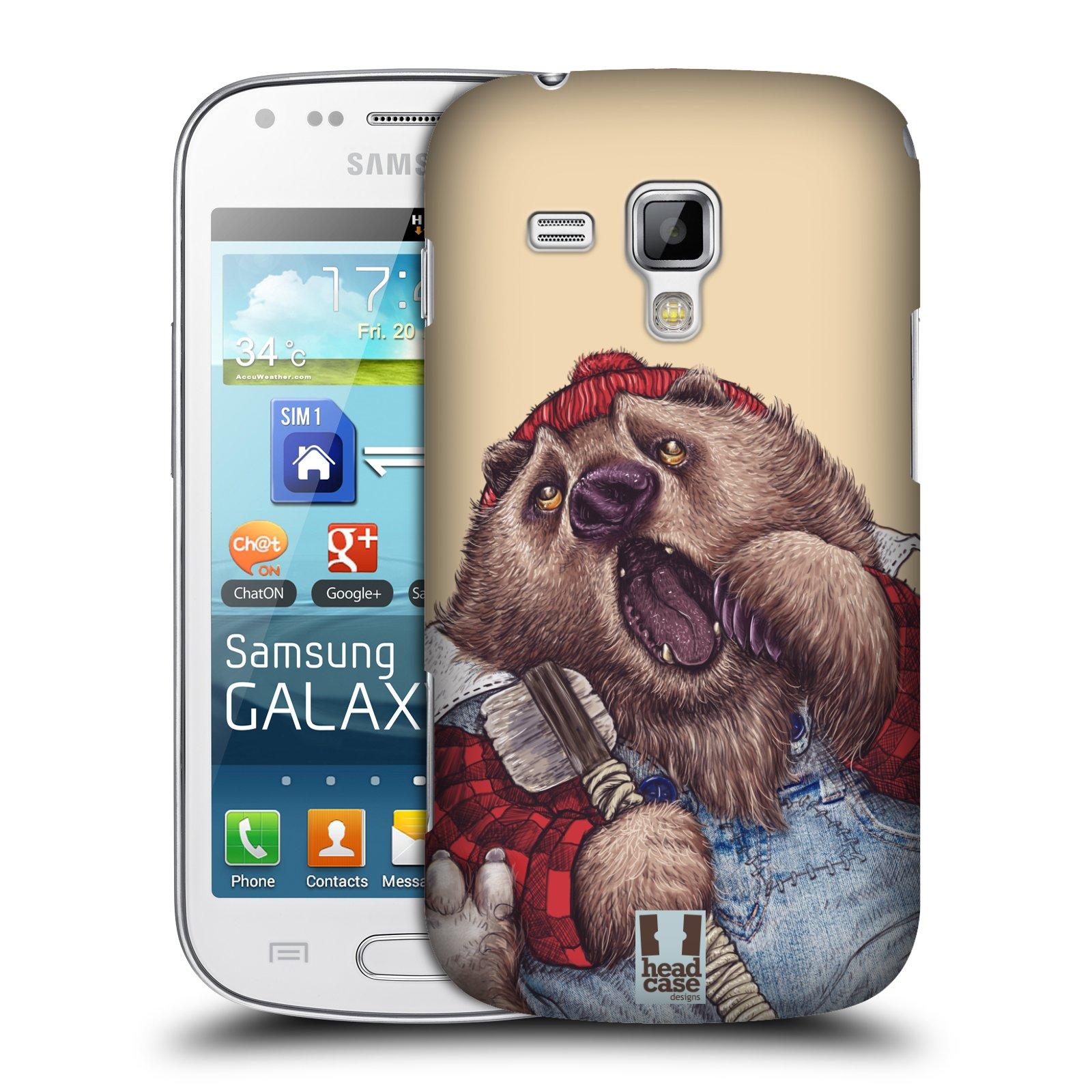 Plastové pouzdro na mobil Samsung Galaxy Trend Plus HEAD CASE ANIMPLA MEDVĚD