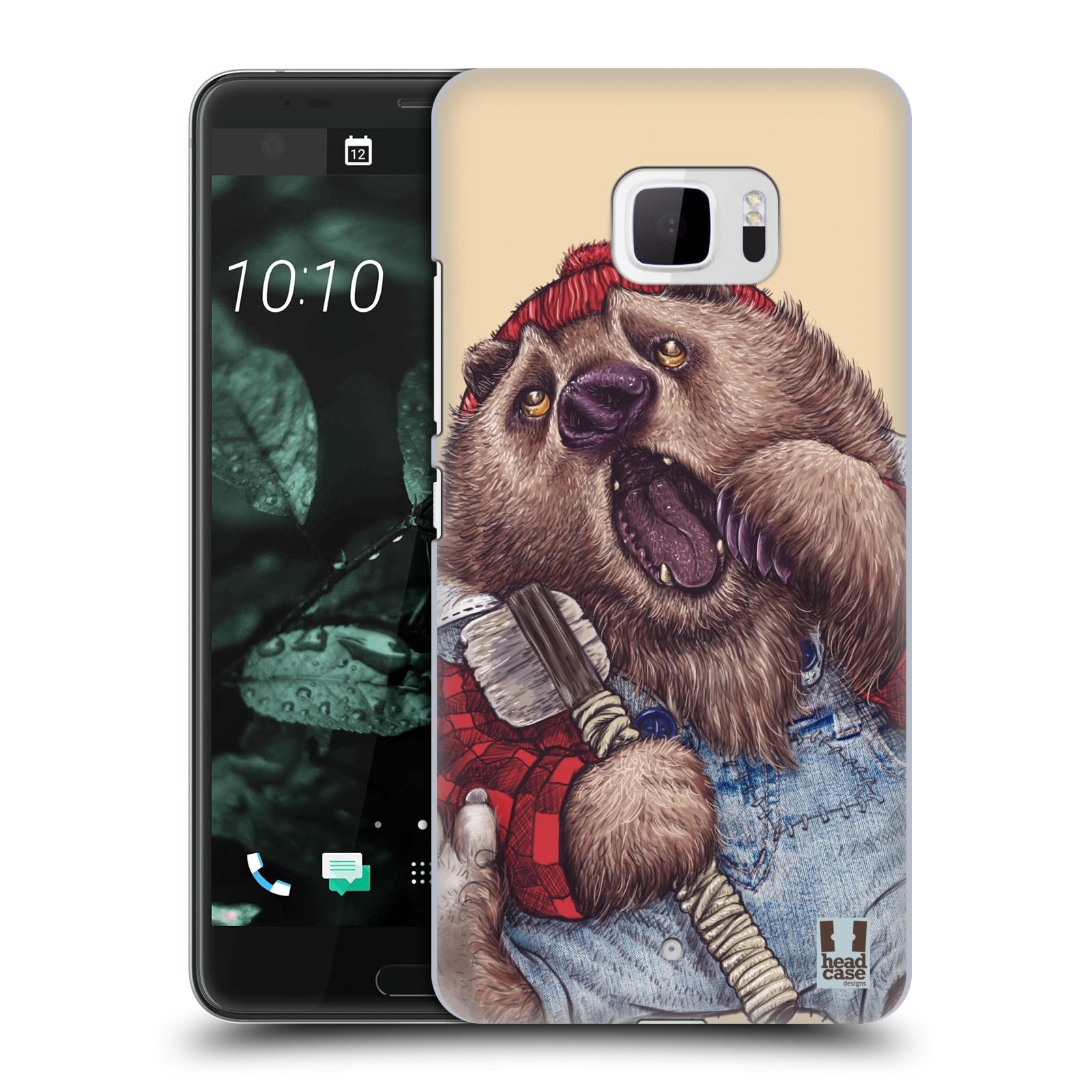 Plastové pouzdro na mobil HTC U Ultra Head Case - ANIMPLA MEDVĚD
