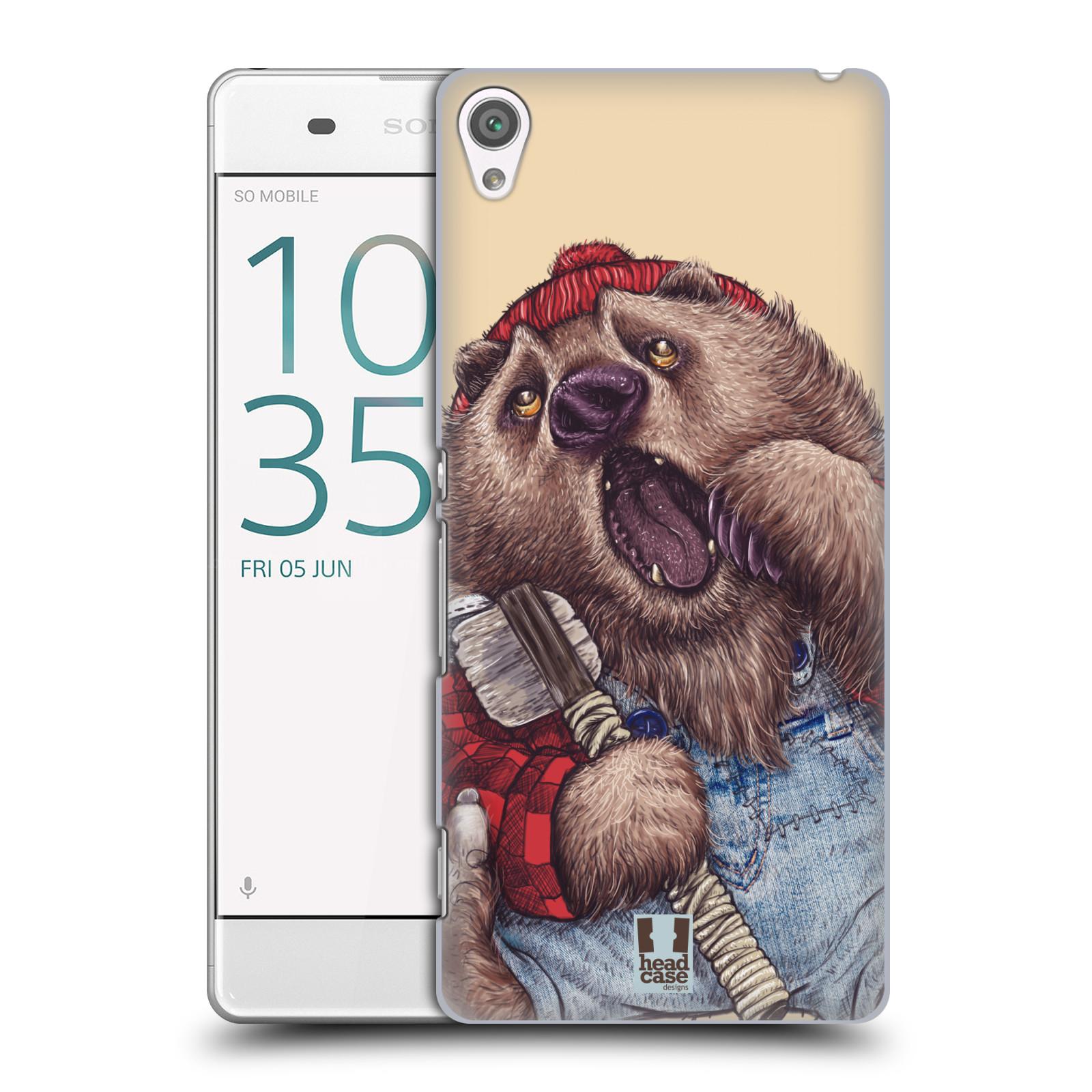 Plastové pouzdro na mobil Sony Xperia XA HEAD CASE ANIMPLA MEDVĚD
