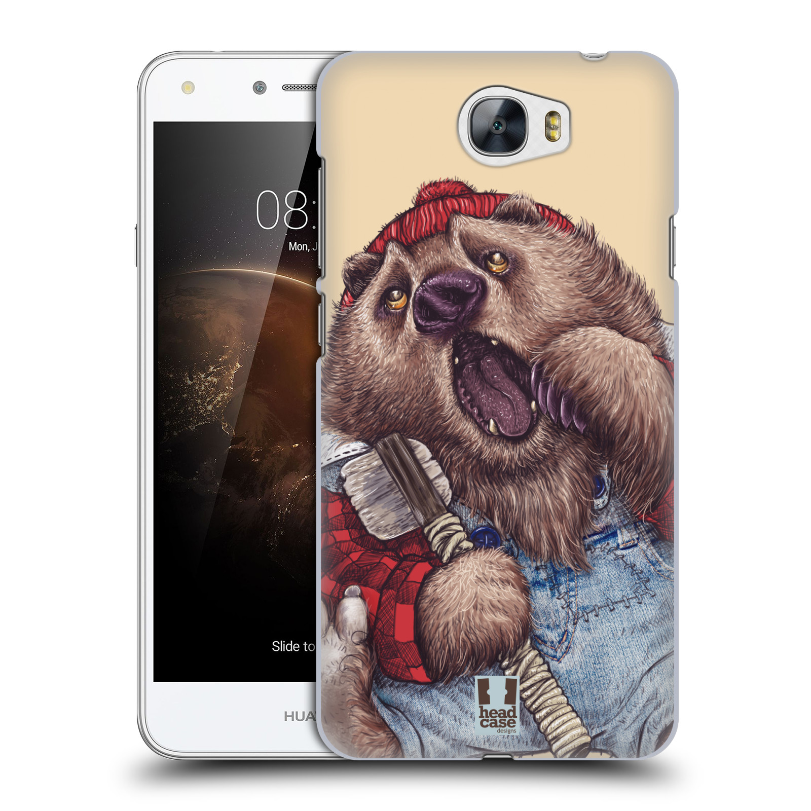 Plastové pouzdro na mobil Huawei Y5 II HEAD CASE ANIMPLA MEDVĚD