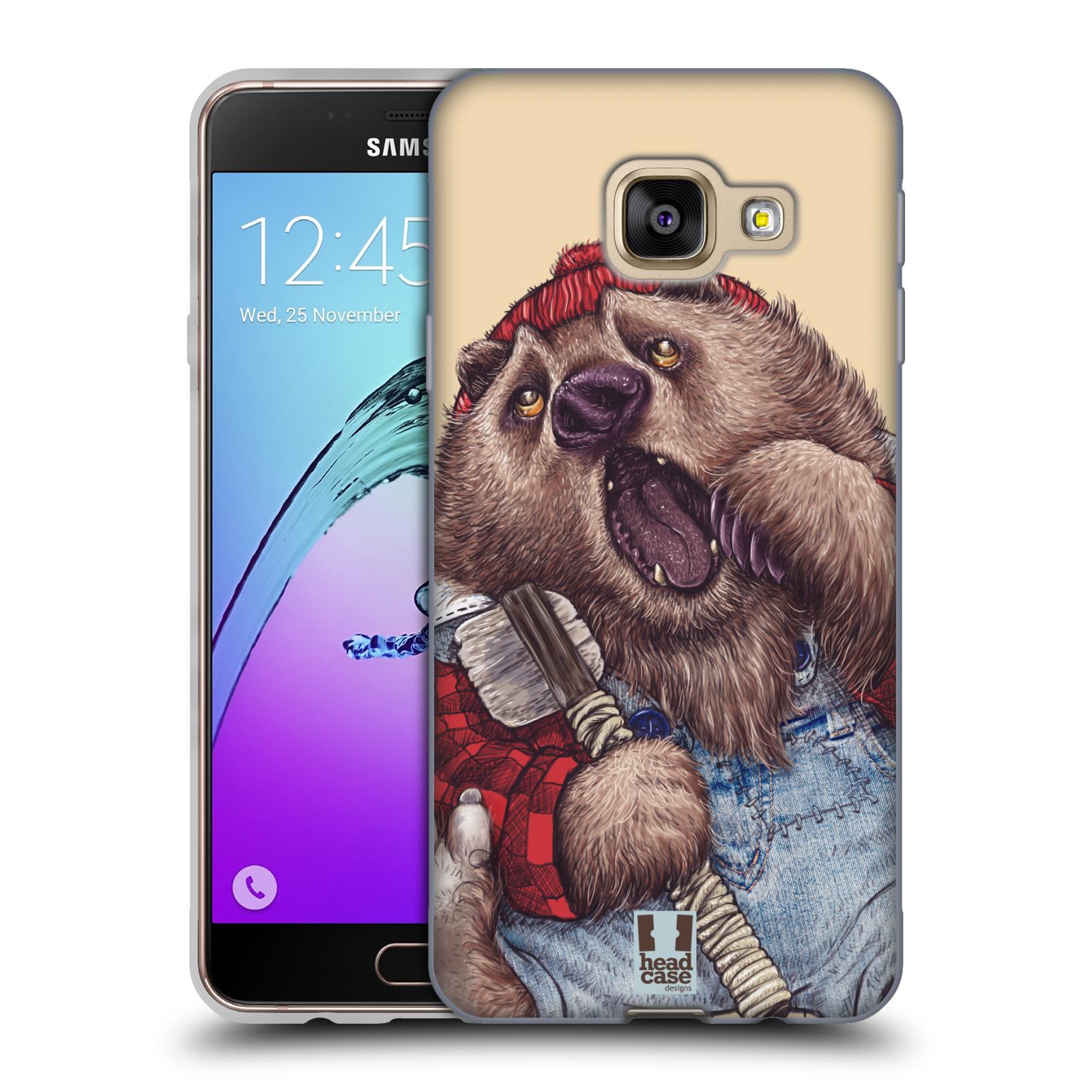 Silikonové pouzdro na mobil Samsung Galaxy A3 (2016) HEAD CASE ANIMPLA MEDVĚD