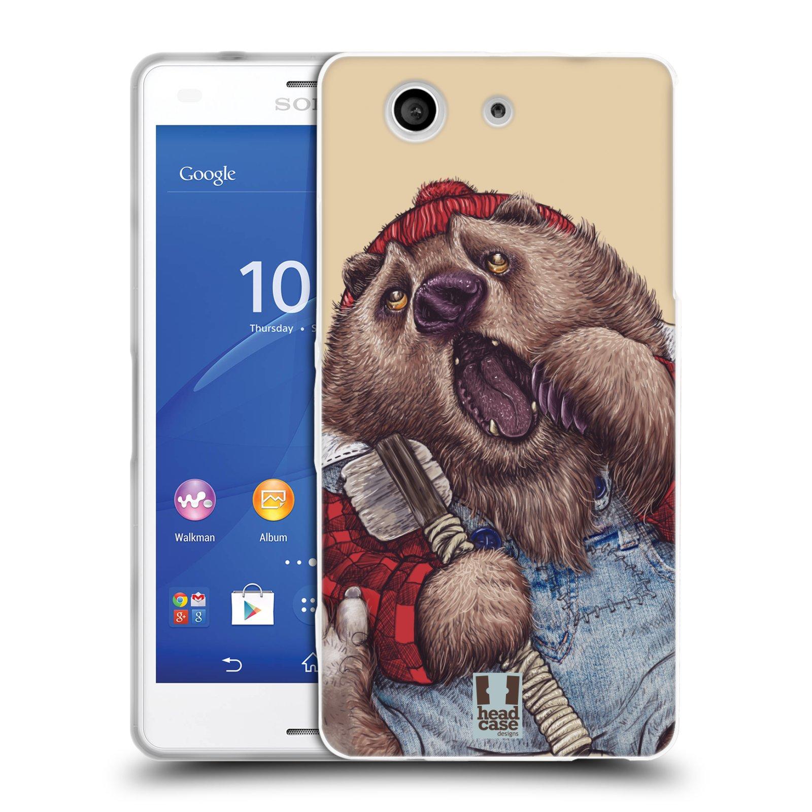 Silikonové pouzdro na mobil Sony Xperia Z3 Compact D5803 HEAD CASE ANIMPLA MEDVĚD