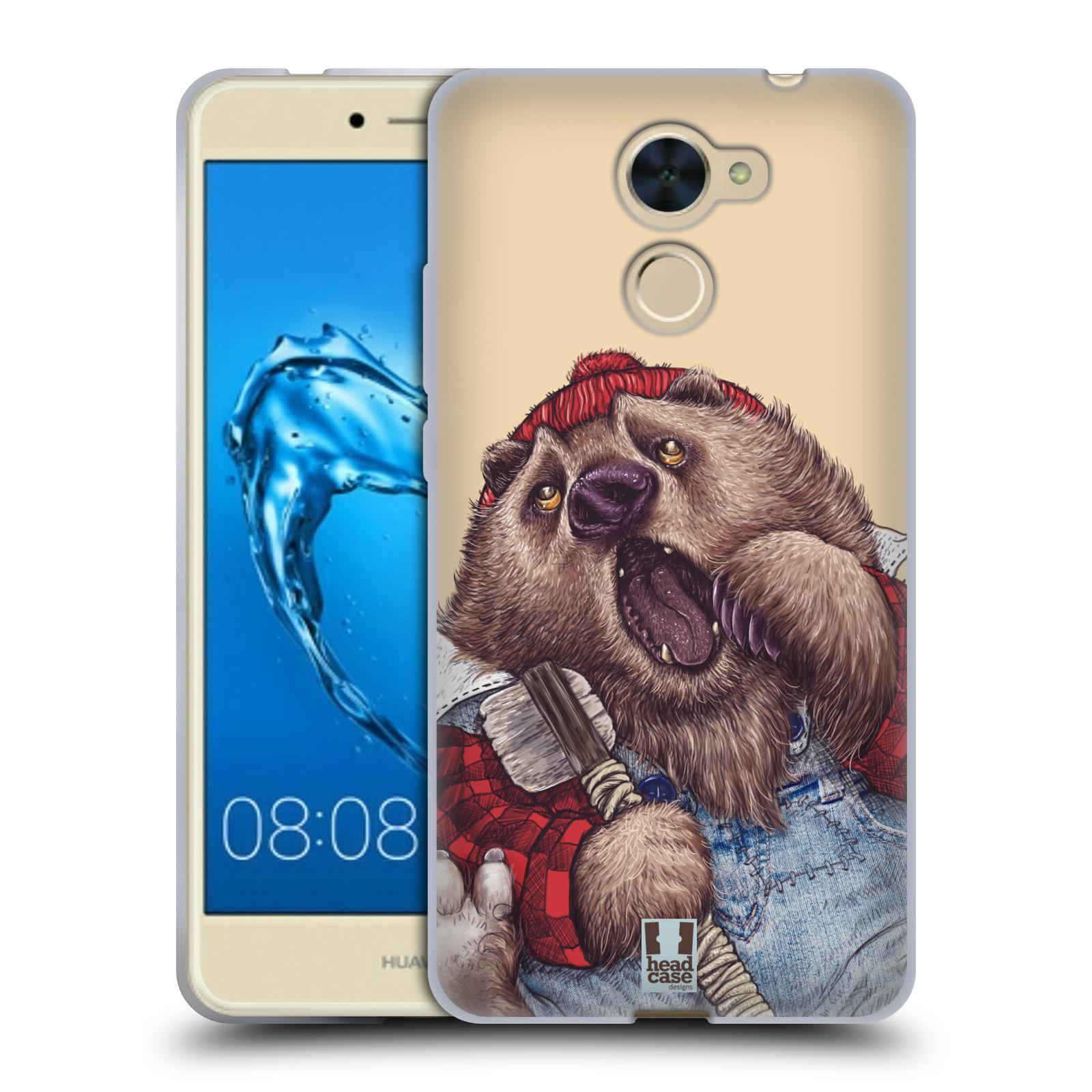 Silikonové pouzdro na mobil Huawei Y7 - Head Case - ANIMPLA MEDVĚD