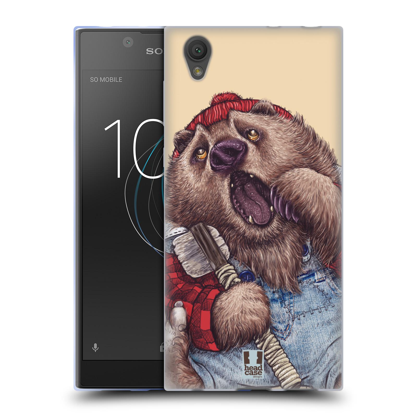 Silikonové pouzdro na mobil Sony Xperia L1 - Head Case - ANIMPLA MEDVĚD