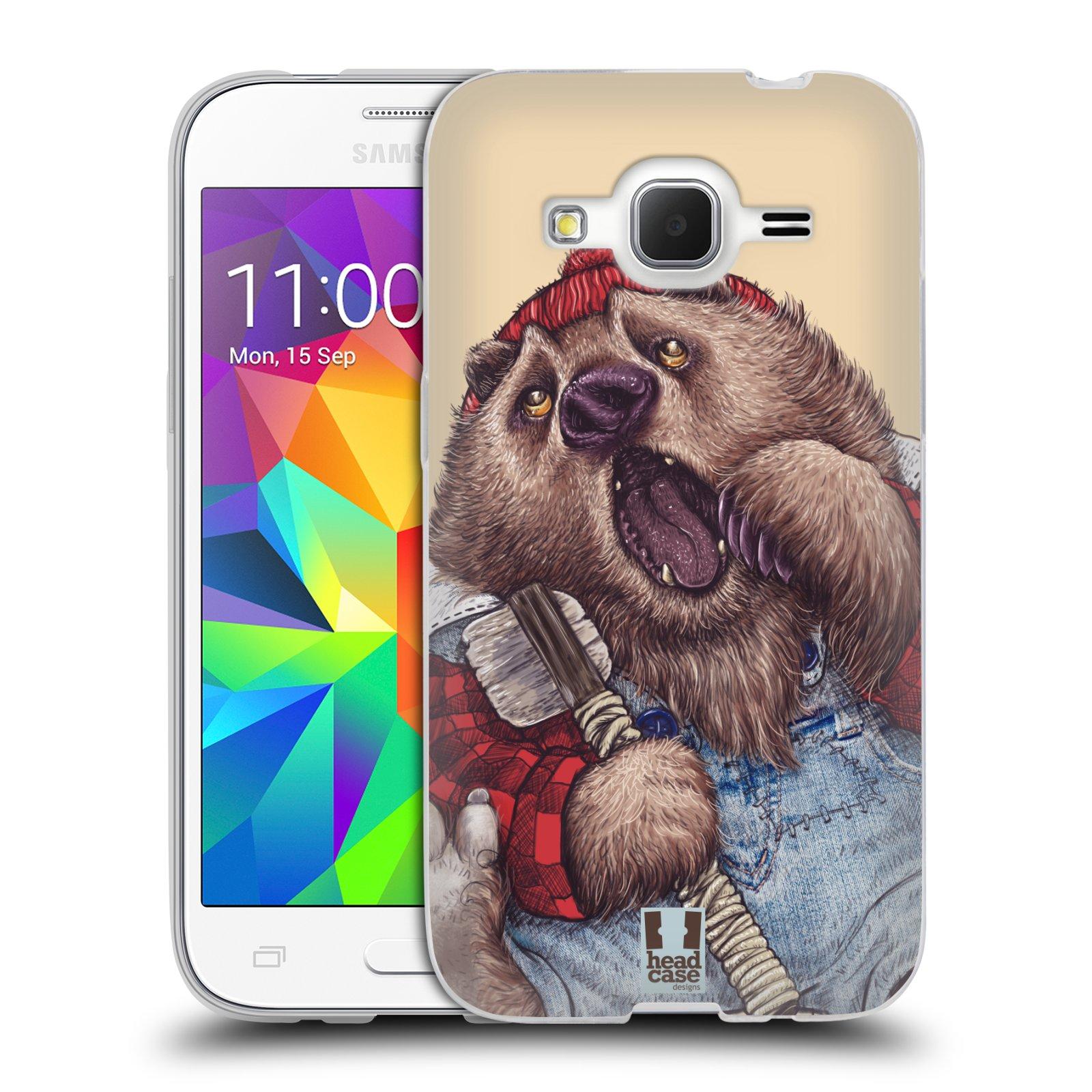 Silikonové pouzdro na mobil Samsung Galaxy Core Prime LTE HEAD CASE ANIMPLA MEDVĚD