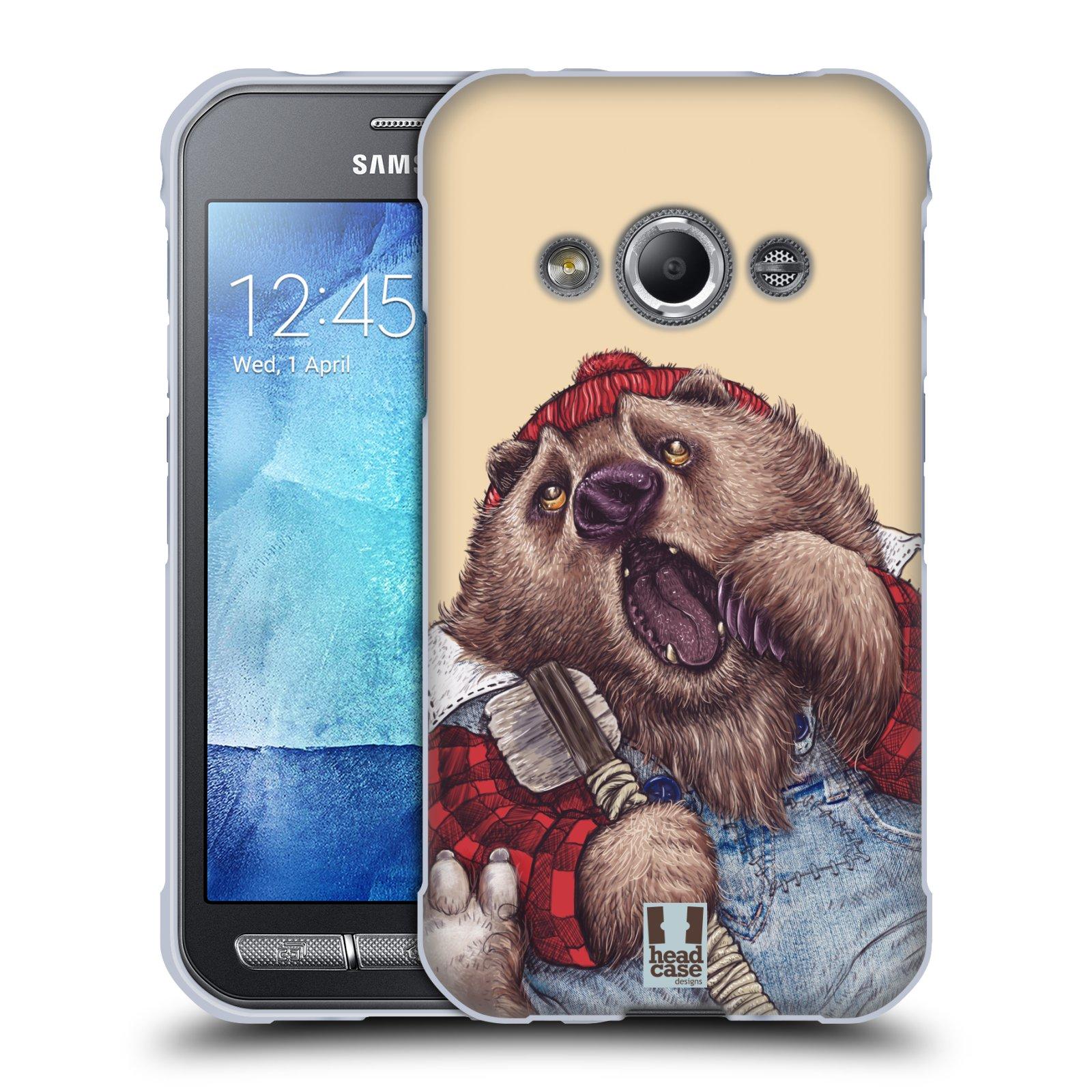 Silikonové pouzdro na mobil Samsung Galaxy Xcover 3 HEAD CASE ANIMPLA MEDVĚD