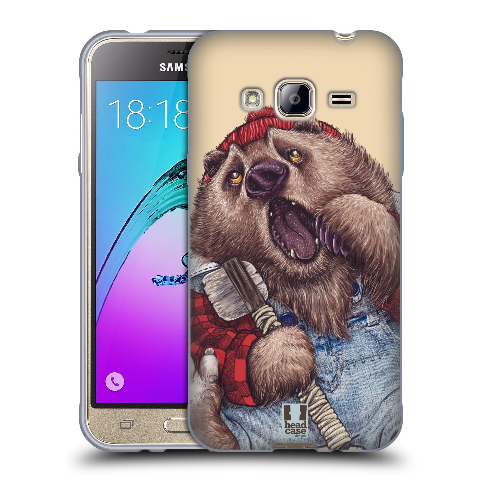 Silikonové pouzdro na mobil Samsung Galaxy J3 (2016) HEAD CASE ANIMPLA MEDVĚD