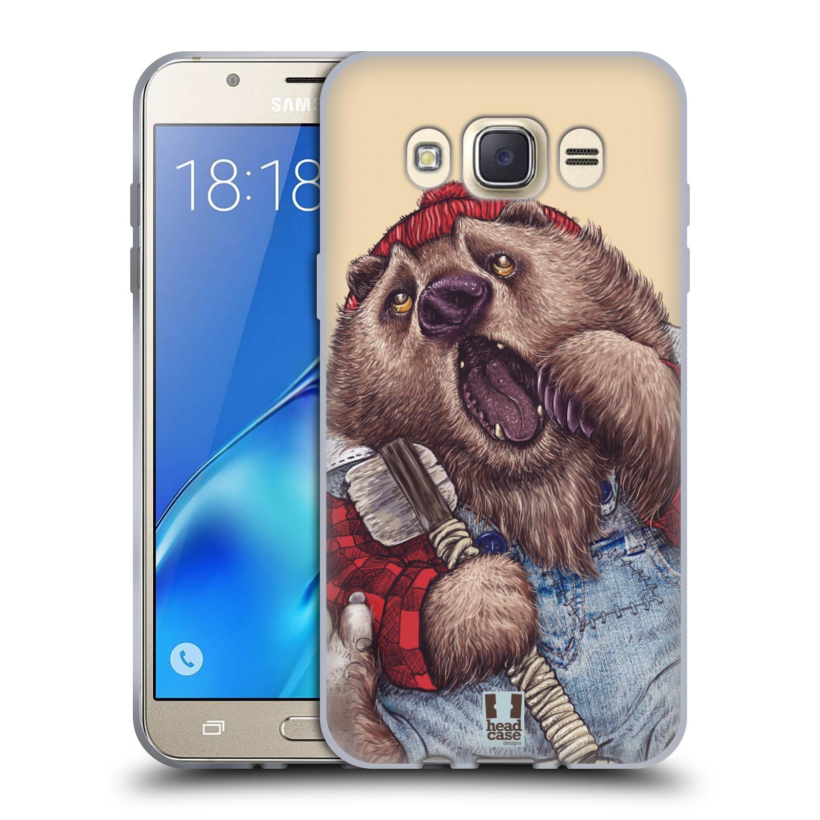 Silikonové pouzdro na mobil Samsung Galaxy J7 (2016) HEAD CASE ANIMPLA MEDVĚD