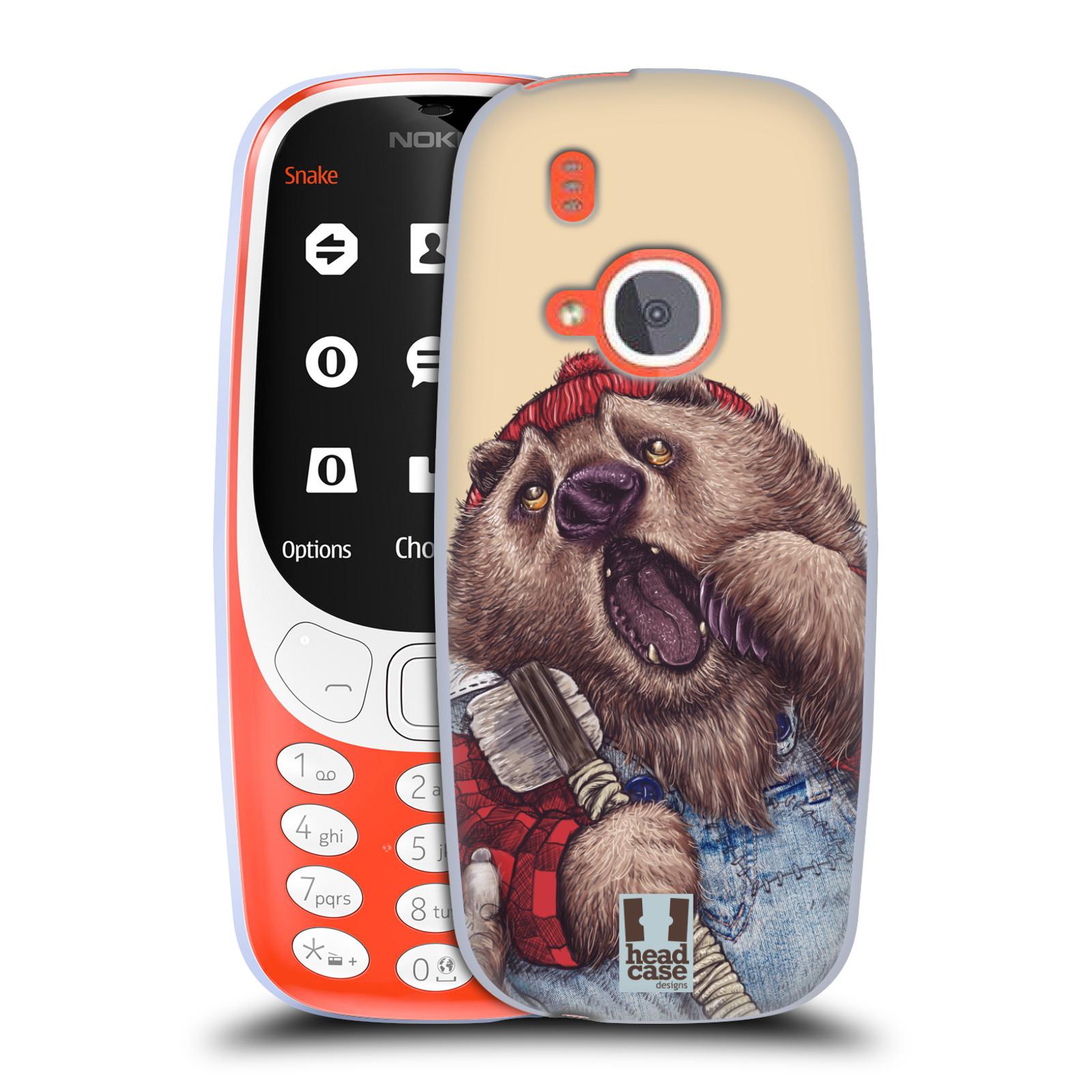 Silikonové pouzdro na mobil Nokia 3310 - Head Case - ANIMPLA MEDVĚD