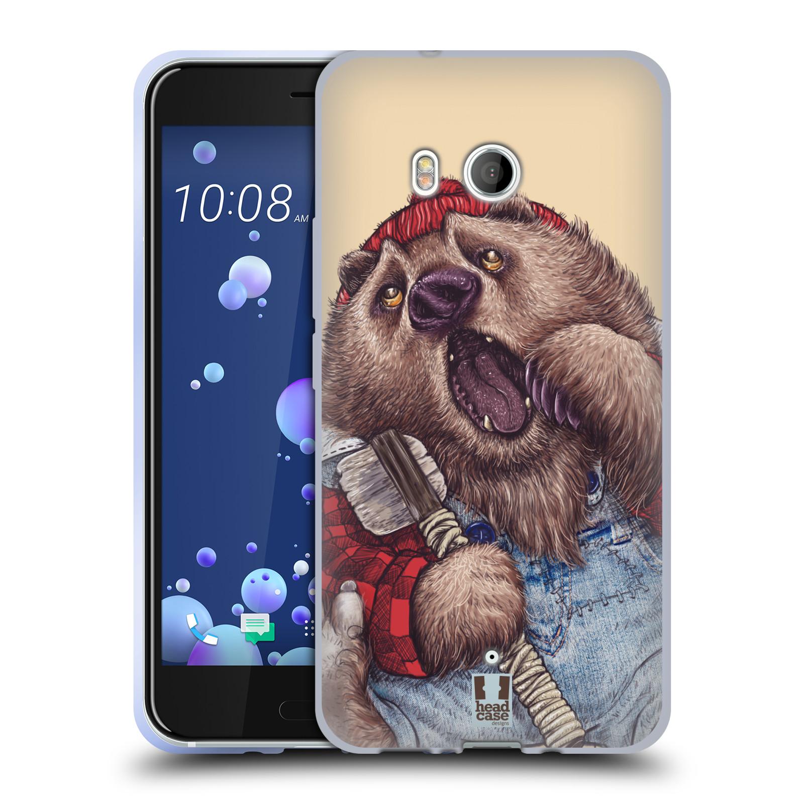 Silikonové pouzdro na mobil HTC U11 - Head Case - ANIMPLA MEDVĚD