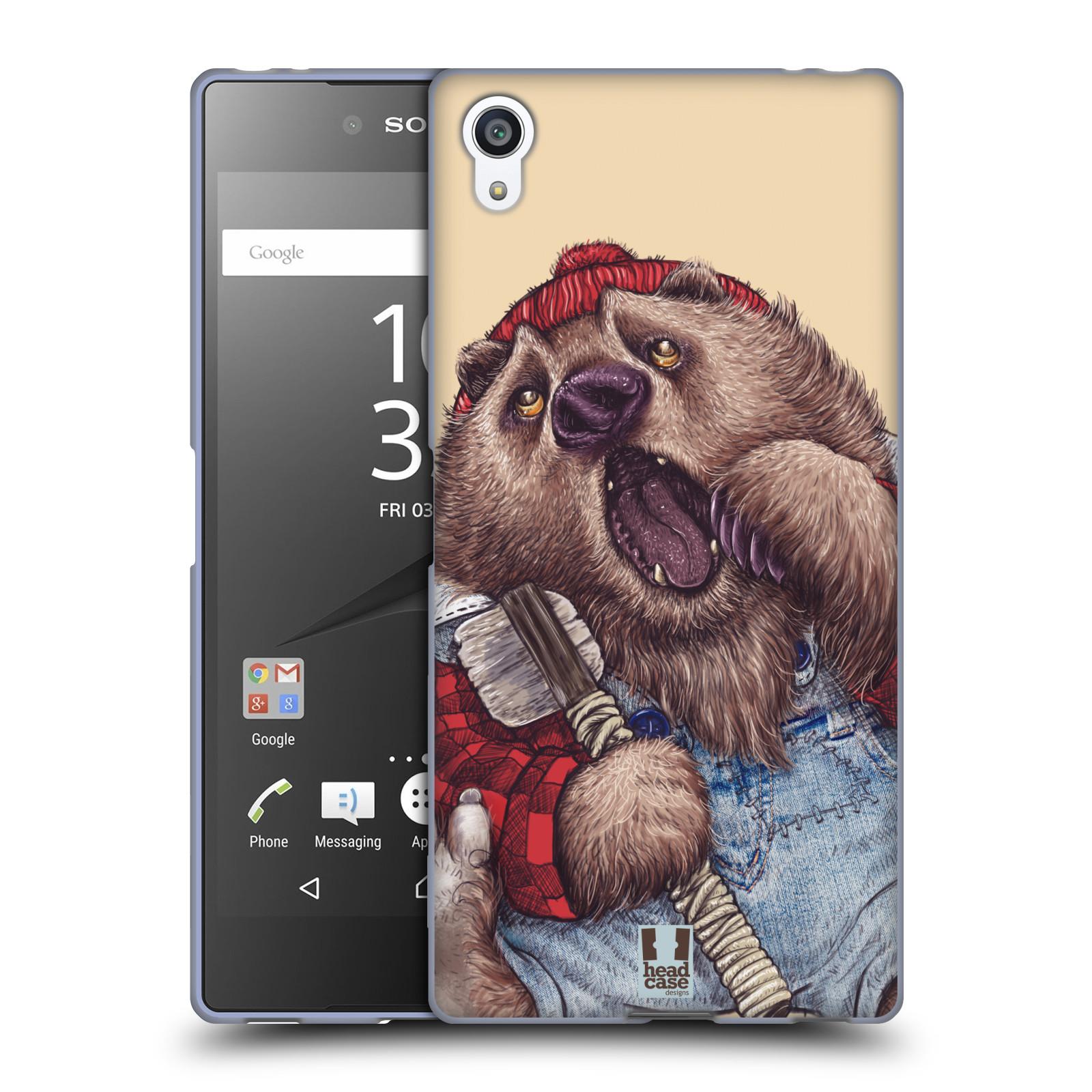 Silikonové pouzdro na mobil Sony Xperia Z5 Premium HEAD CASE ANIMPLA MEDVĚD
