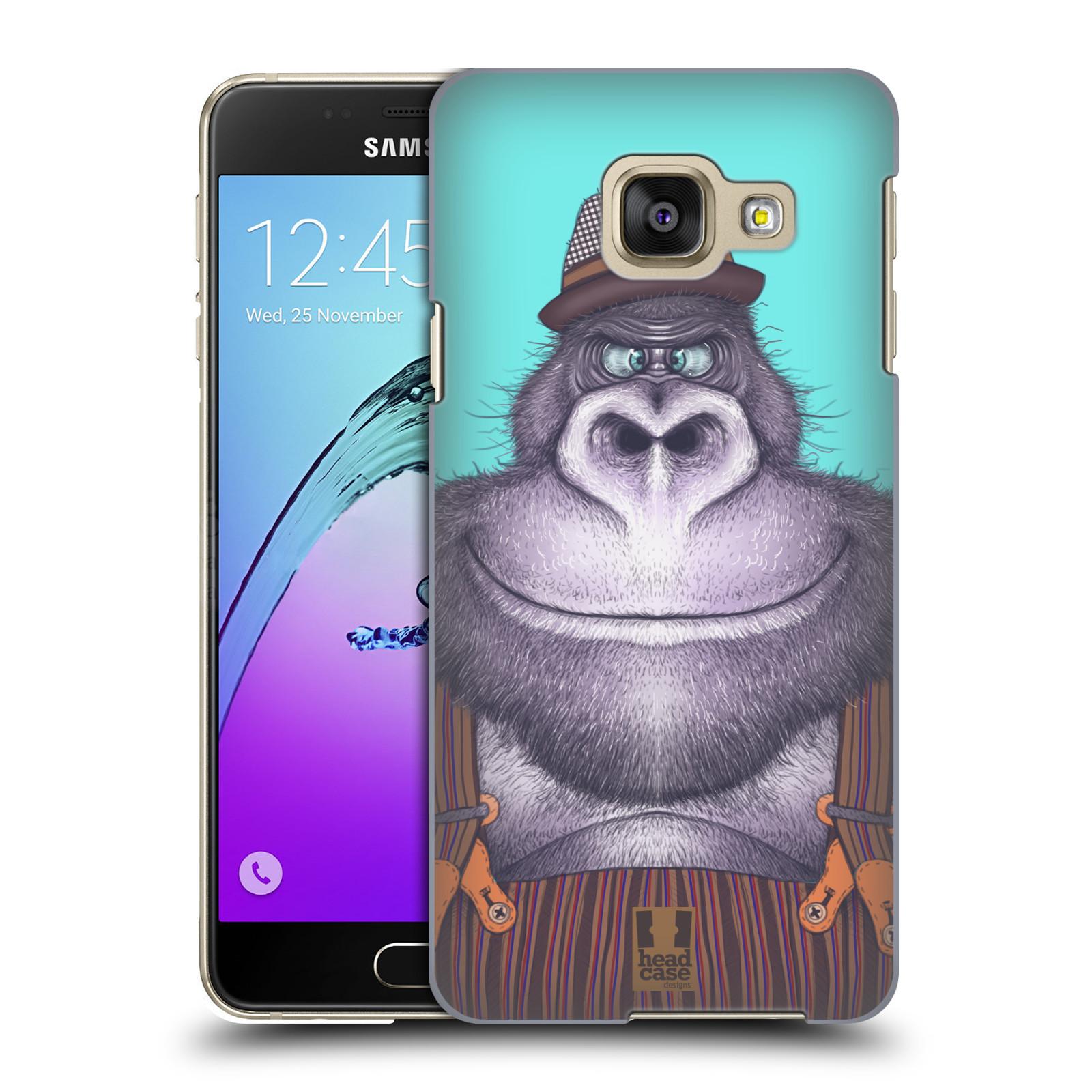 Plastové pouzdro na mobil Samsung Galaxy A3 (2016) HEAD CASE ANIMPLA GORILÁK