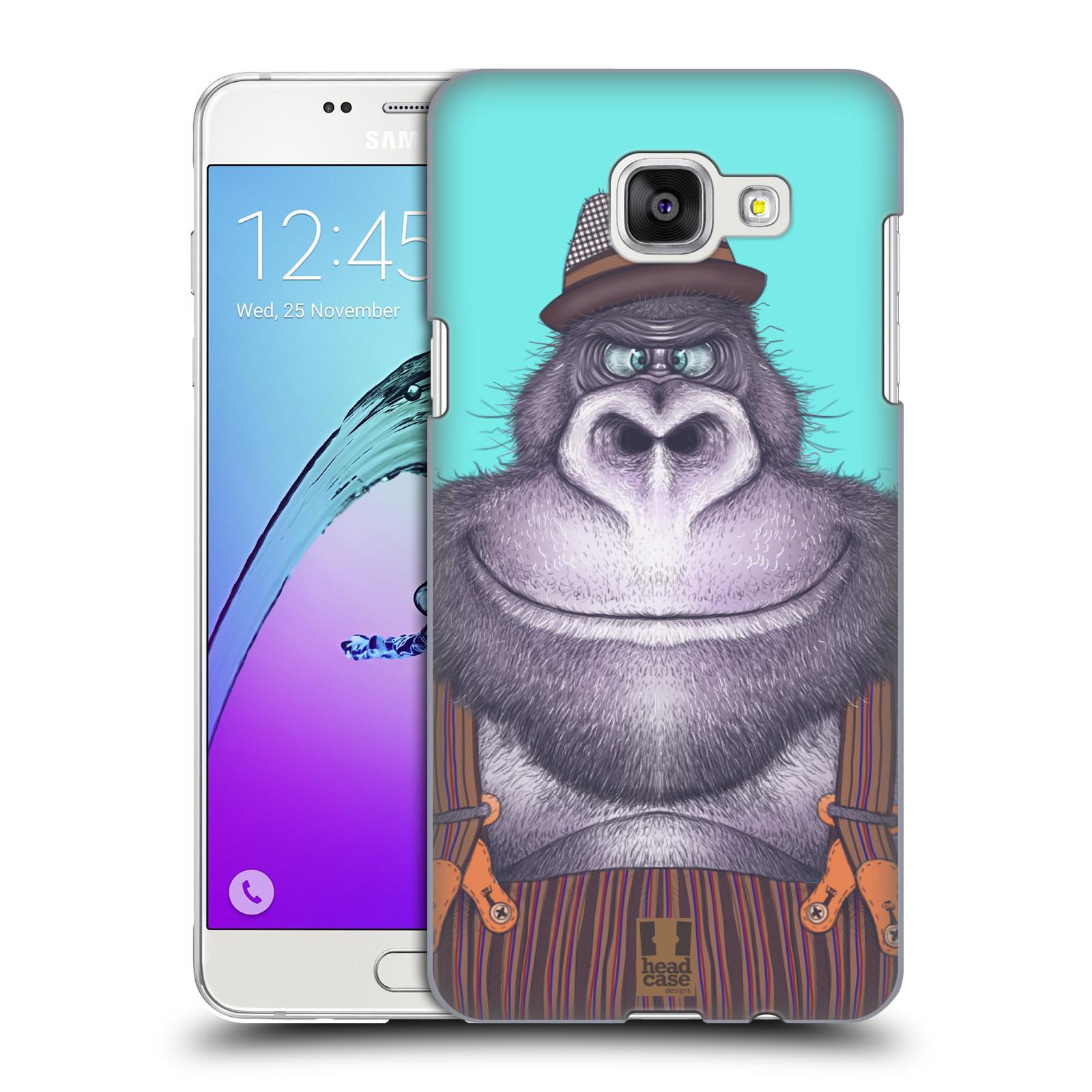 Plastové pouzdro na mobil Samsung Galaxy A5 (2016) HEAD CASE ANIMPLA GORILÁK