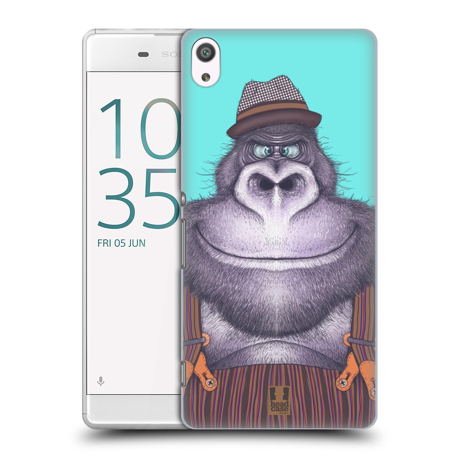 Plastové pouzdro na mobil Sony Xperia XA Ultra HEAD CASE ANIMPLA GORILÁK