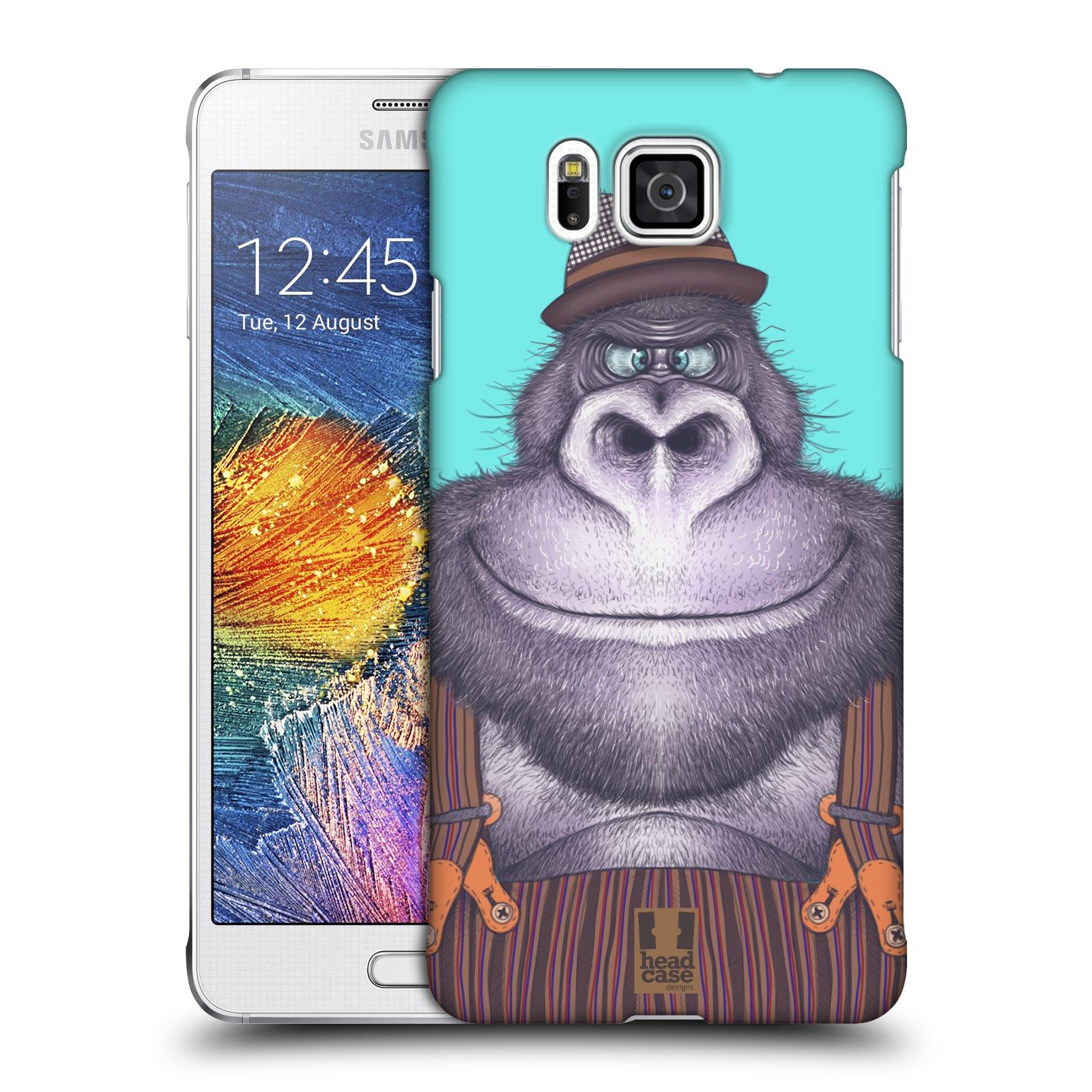 Plastové pouzdro na mobil Samsung Galaxy Alpha HEAD CASE ANIMPLA GORILÁK