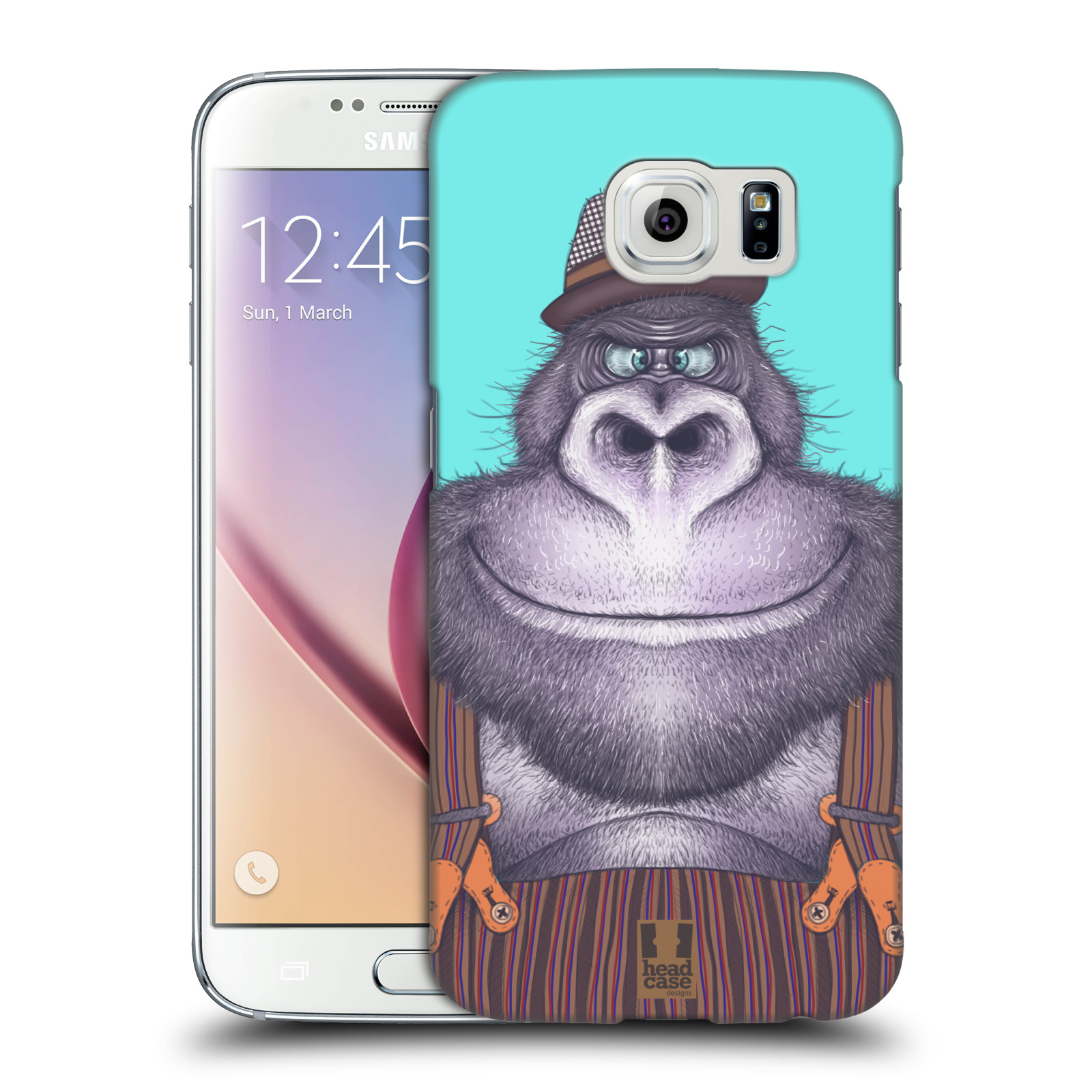 Plastové pouzdro na mobil Samsung Galaxy S6 HEAD CASE ANIMPLA GORILÁK