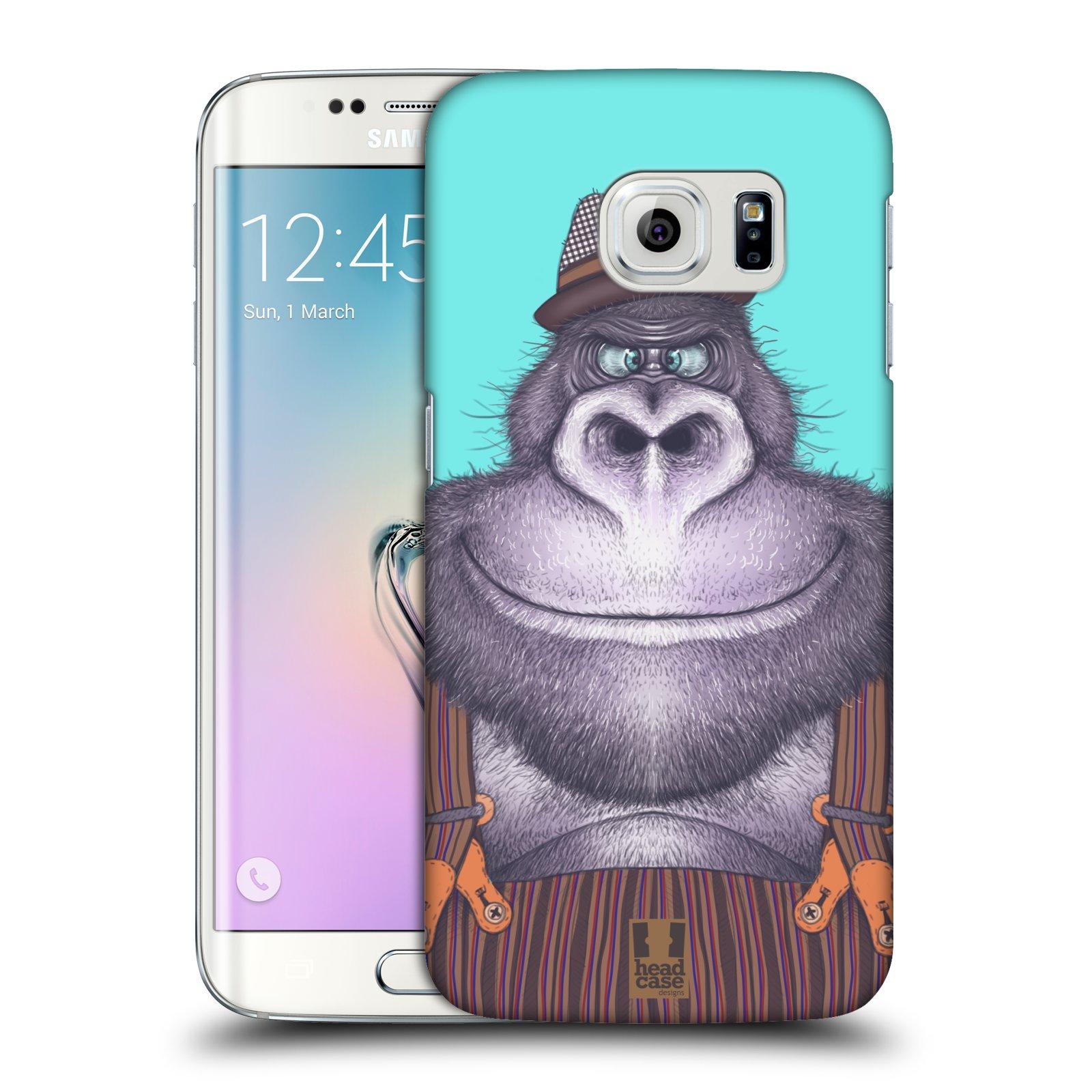 Plastové pouzdro na mobil Samsung Galaxy S6 Edge HEAD CASE ANIMPLA GORILÁK