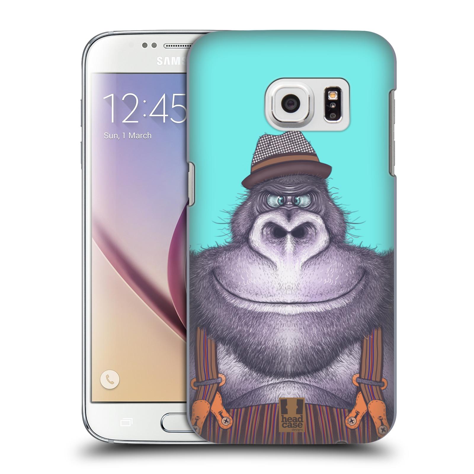 Plastové pouzdro na mobil Samsung Galaxy S7 HEAD CASE ANIMPLA GORILÁK (Kryt či obal na mobilní telefon Samsung Galaxy S7 SM-G930F)