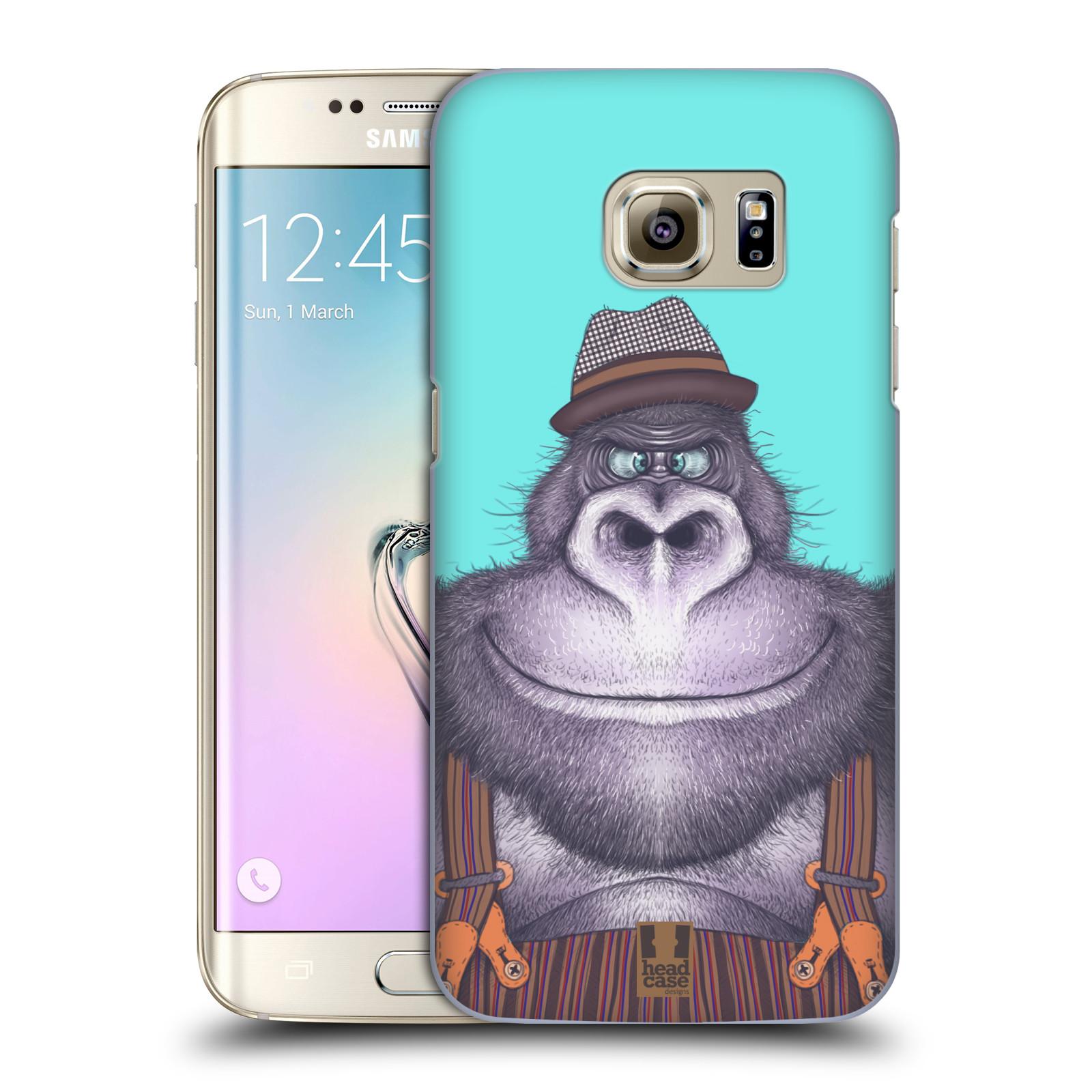 Plastové pouzdro na mobil Samsung Galaxy S7 Edge HEAD CASE ANIMPLA GORILÁK