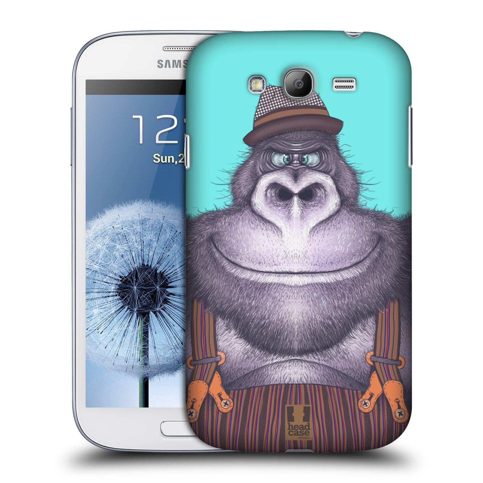 Plastové pouzdro na mobil Samsung Galaxy Grand Neo Plus HEAD CASE ANIMPLA GORILÁK