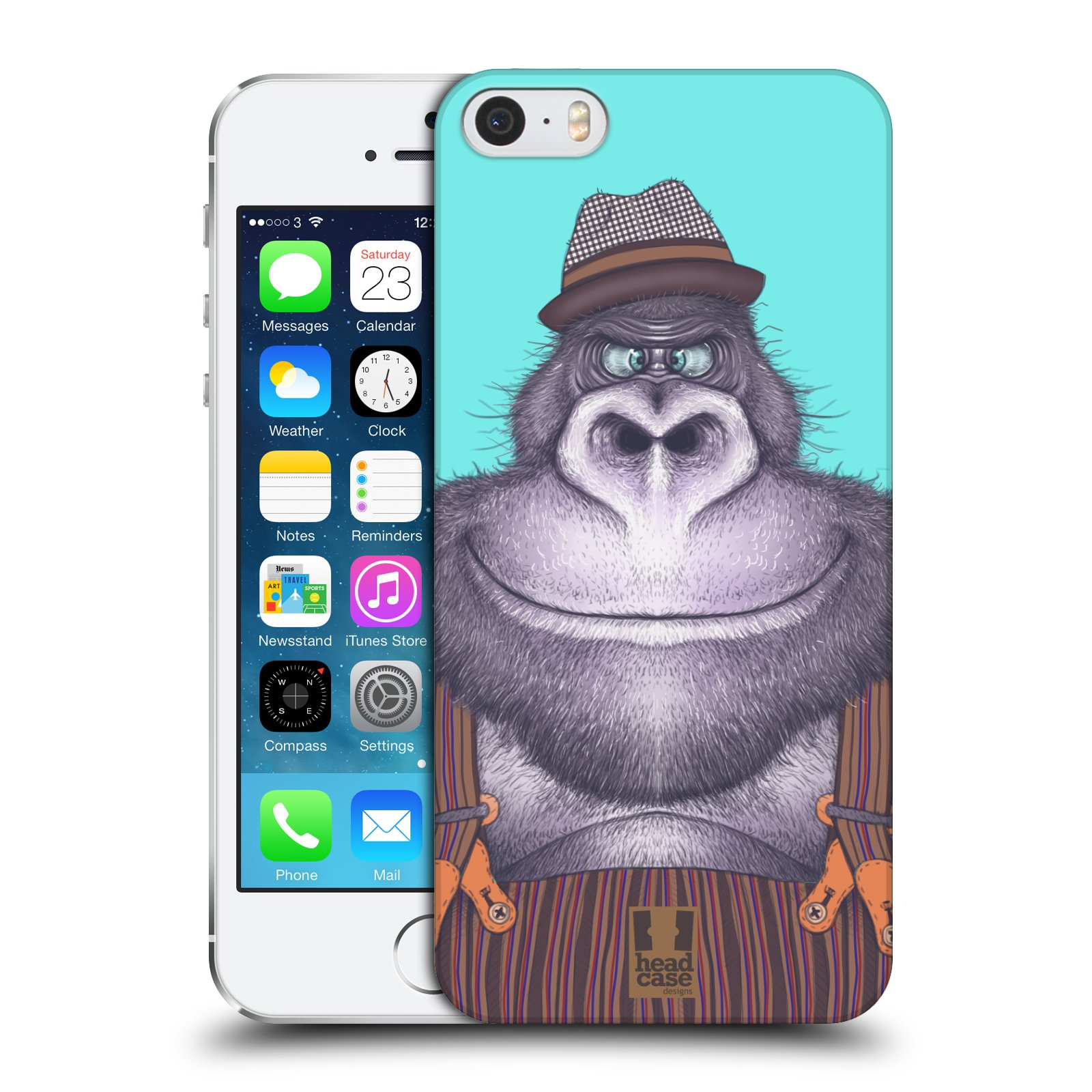 Plastové pouzdro na mobil Apple iPhone SE, 5 a 5S HEAD CASE ANIMPLA GORILÁK