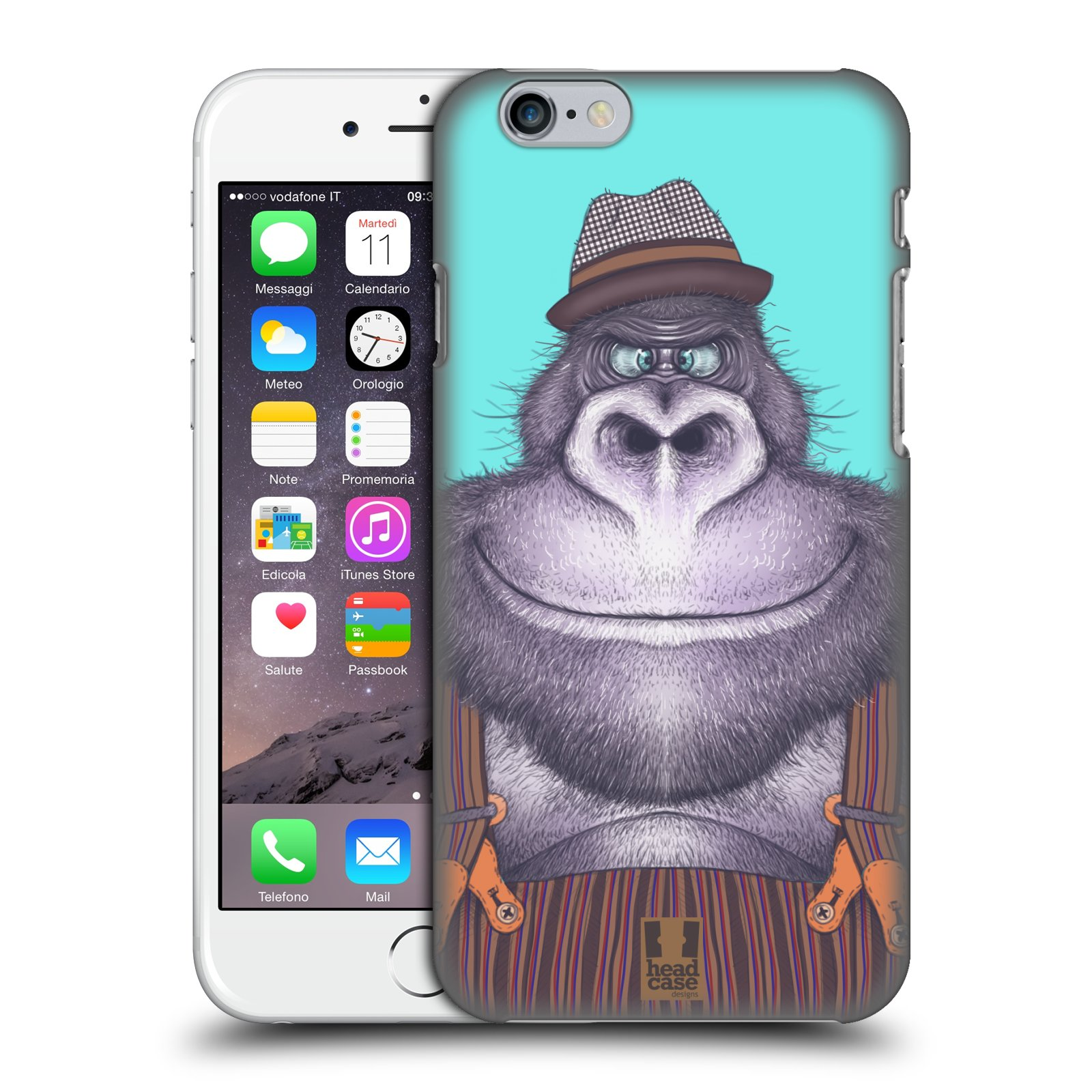 Plastové pouzdro na mobil Apple iPhone 6 a 6S HEAD CASE ANIMPLA GORILÁK