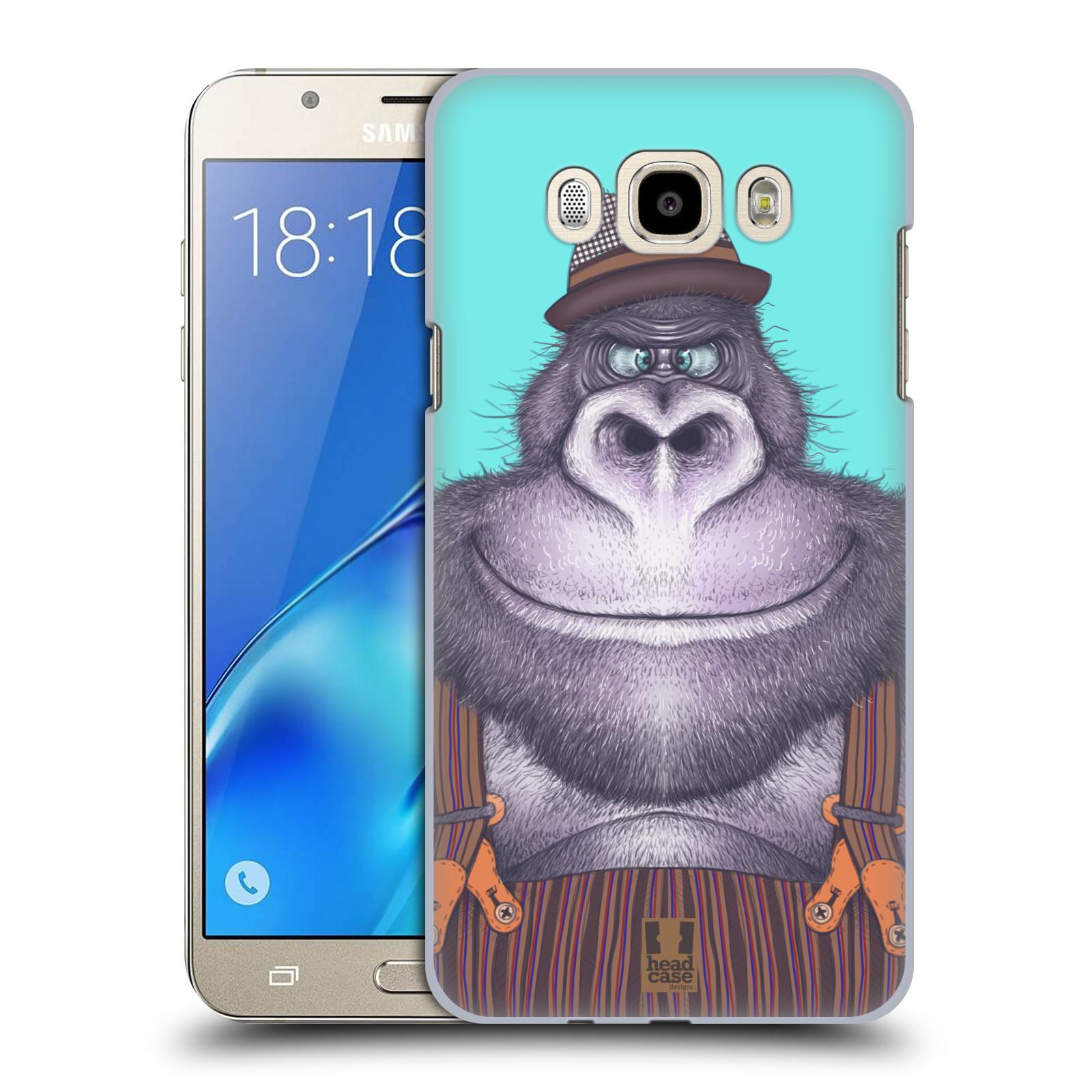 Plastové pouzdro na mobil Samsung Galaxy J7 (2016) HEAD CASE ANIMPLA GORILÁK