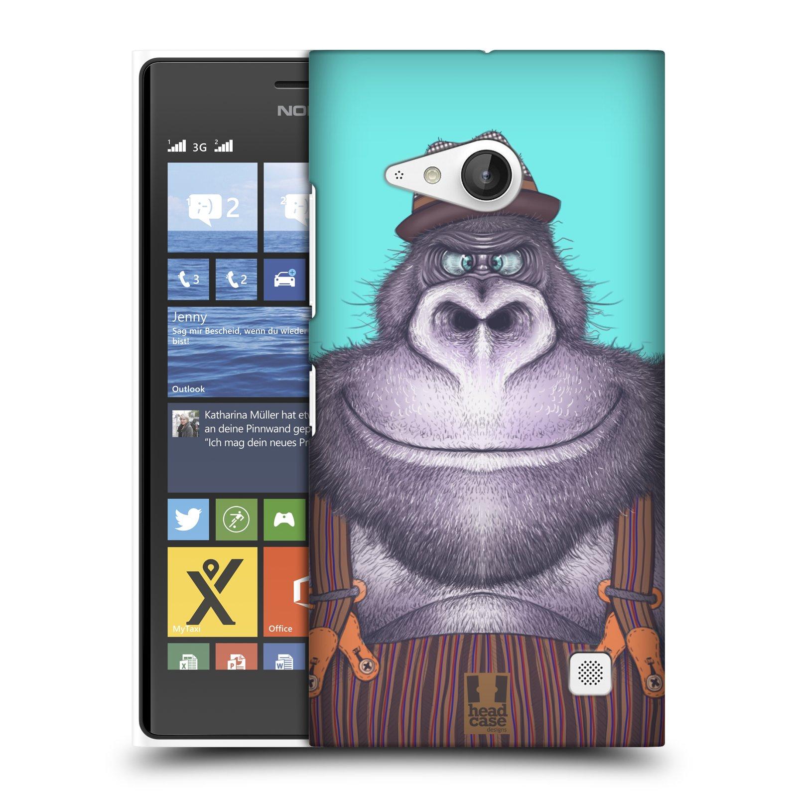 Plastové pouzdro na mobil Nokia Lumia 735 HEAD CASE ANIMPLA GORILÁK