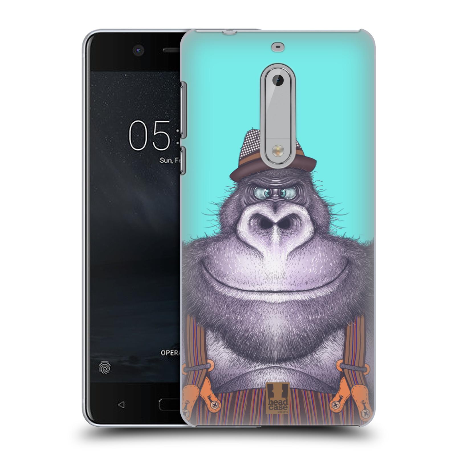 Plastové pouzdro na mobil Nokia 5 Head Case - ANIMPLA GORILÁK