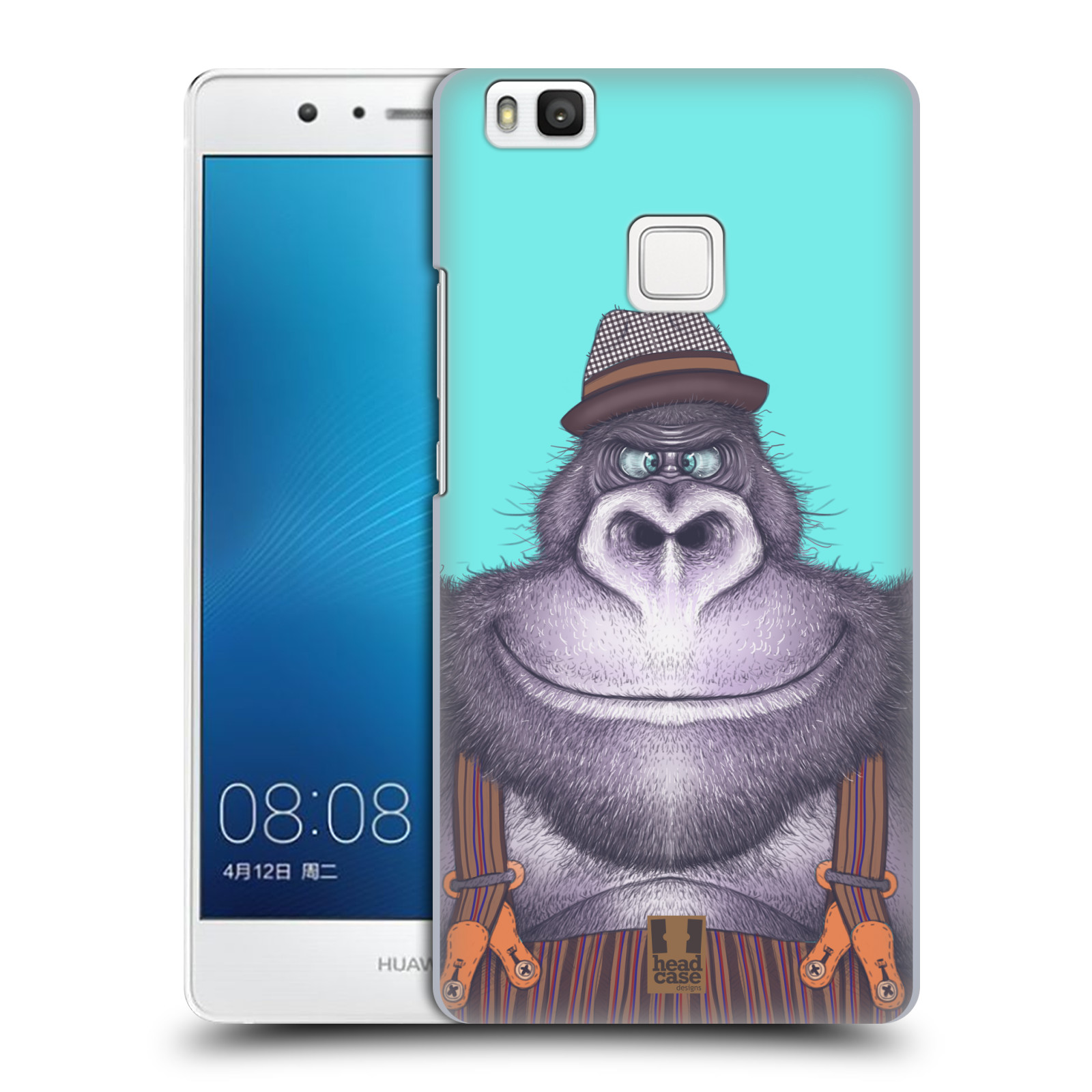 Plastové pouzdro na mobil Huawei P9 Lite HEAD CASE ANIMPLA GORILÁK