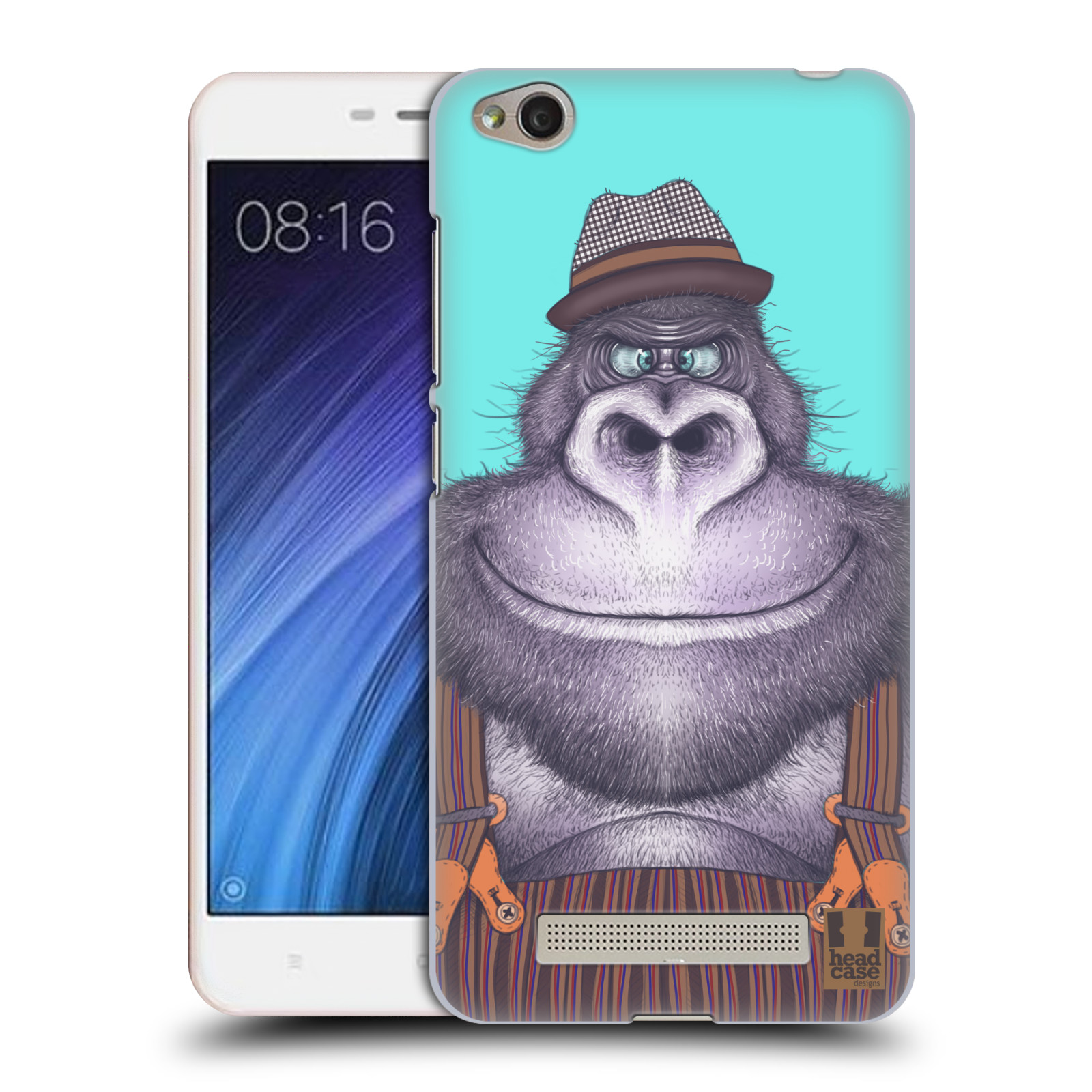 Plastové pouzdro na mobil Xiaomi Redmi 4A HEAD CASE ANIMPLA GORILÁK