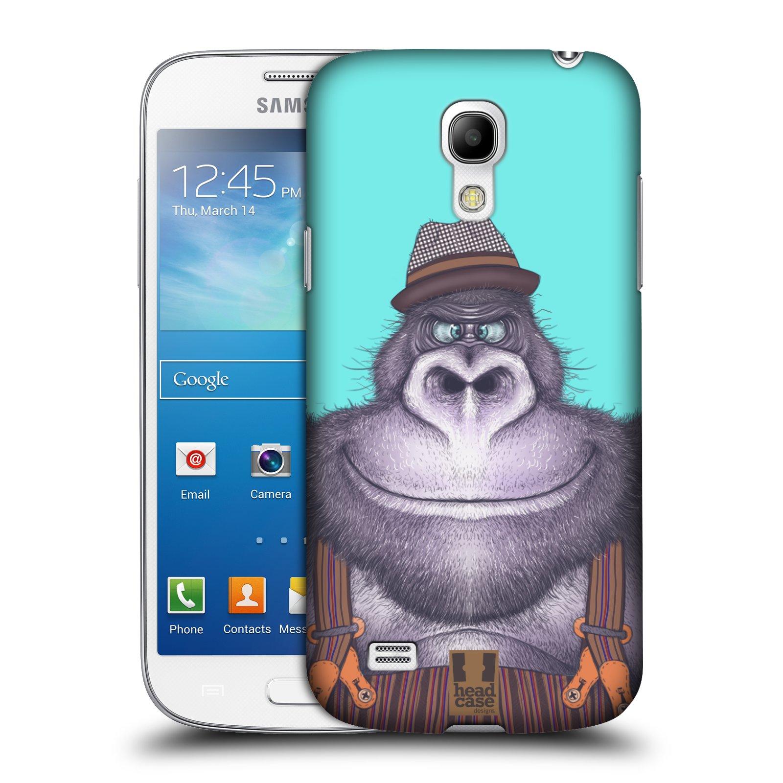 Plastové pouzdro na mobil Samsung Galaxy S4 Mini VE HEAD CASE ANIMPLA GORILÁK
