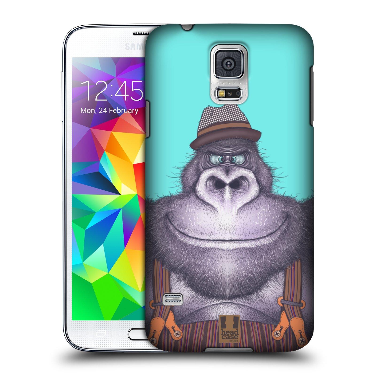 Plastové pouzdro na mobil Samsung Galaxy S5 HEAD CASE ANIMPLA GORILÁK