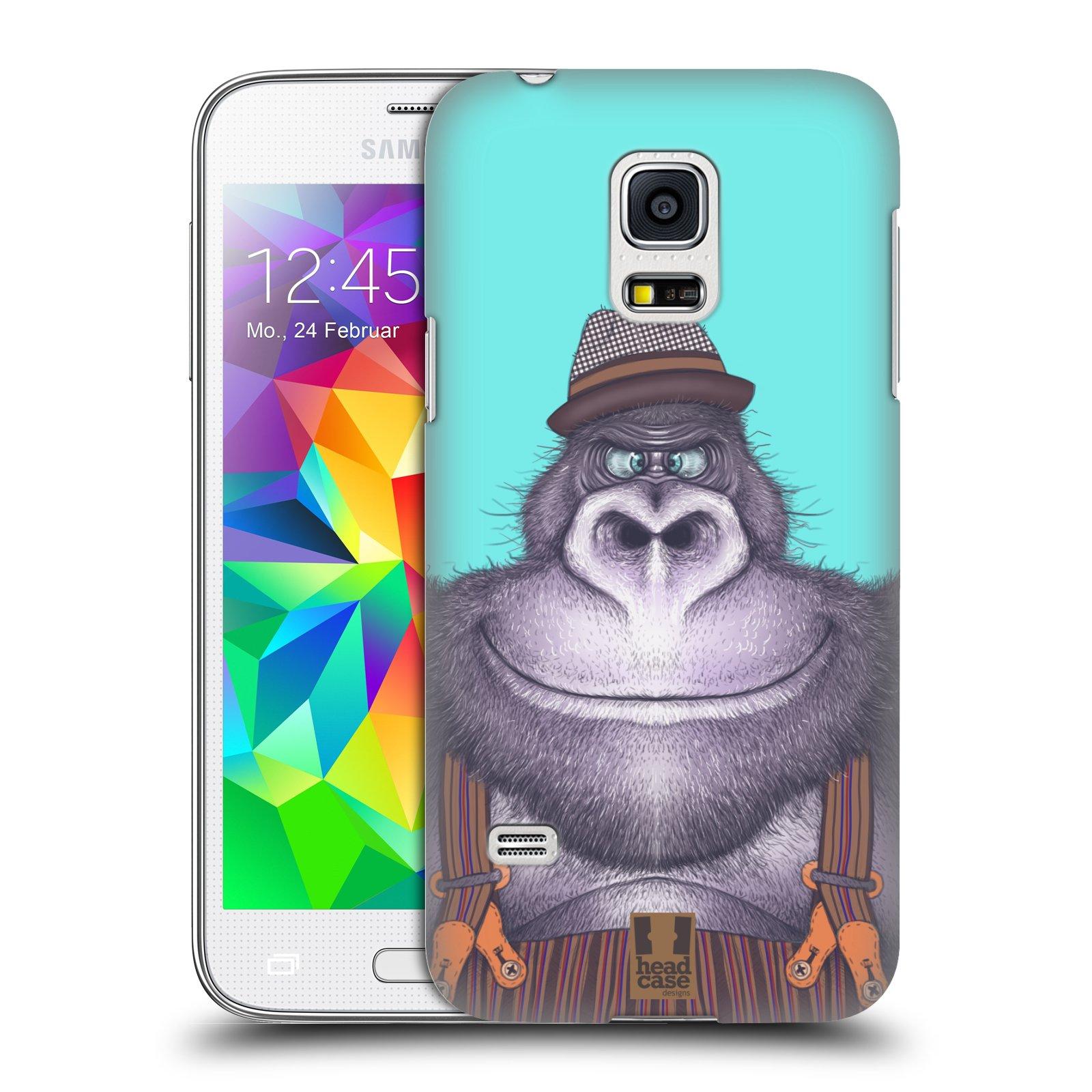 Plastové pouzdro na mobil Samsung Galaxy S5 Mini HEAD CASE ANIMPLA GORILÁK