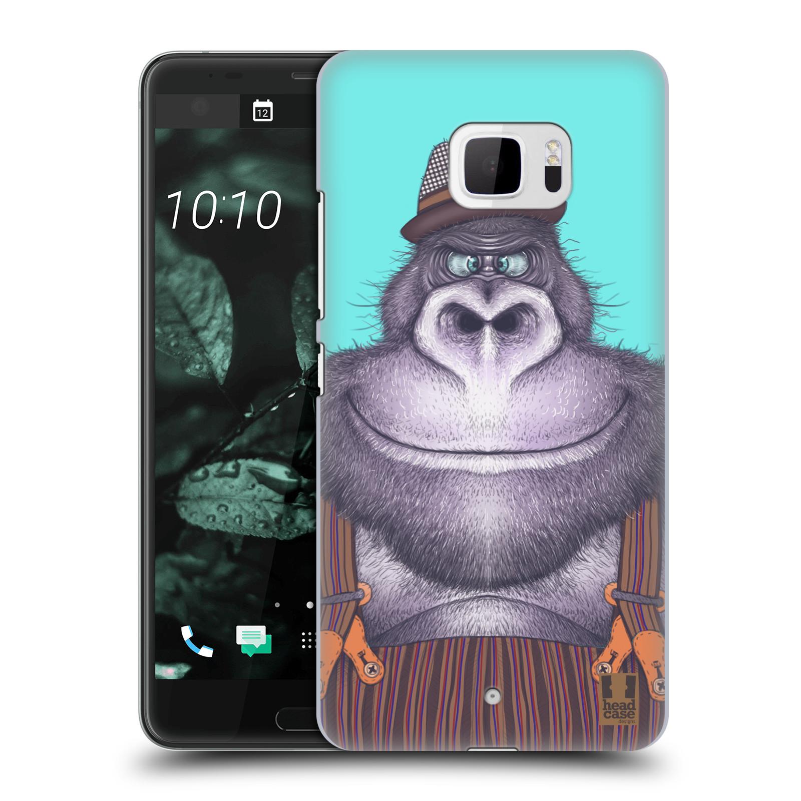 Plastové pouzdro na mobil HTC U Ultra Head Case - ANIMPLA GORILÁK (Plastový kryt či obal na mobilní telefon HTC U Ultra (99HALT015-00))