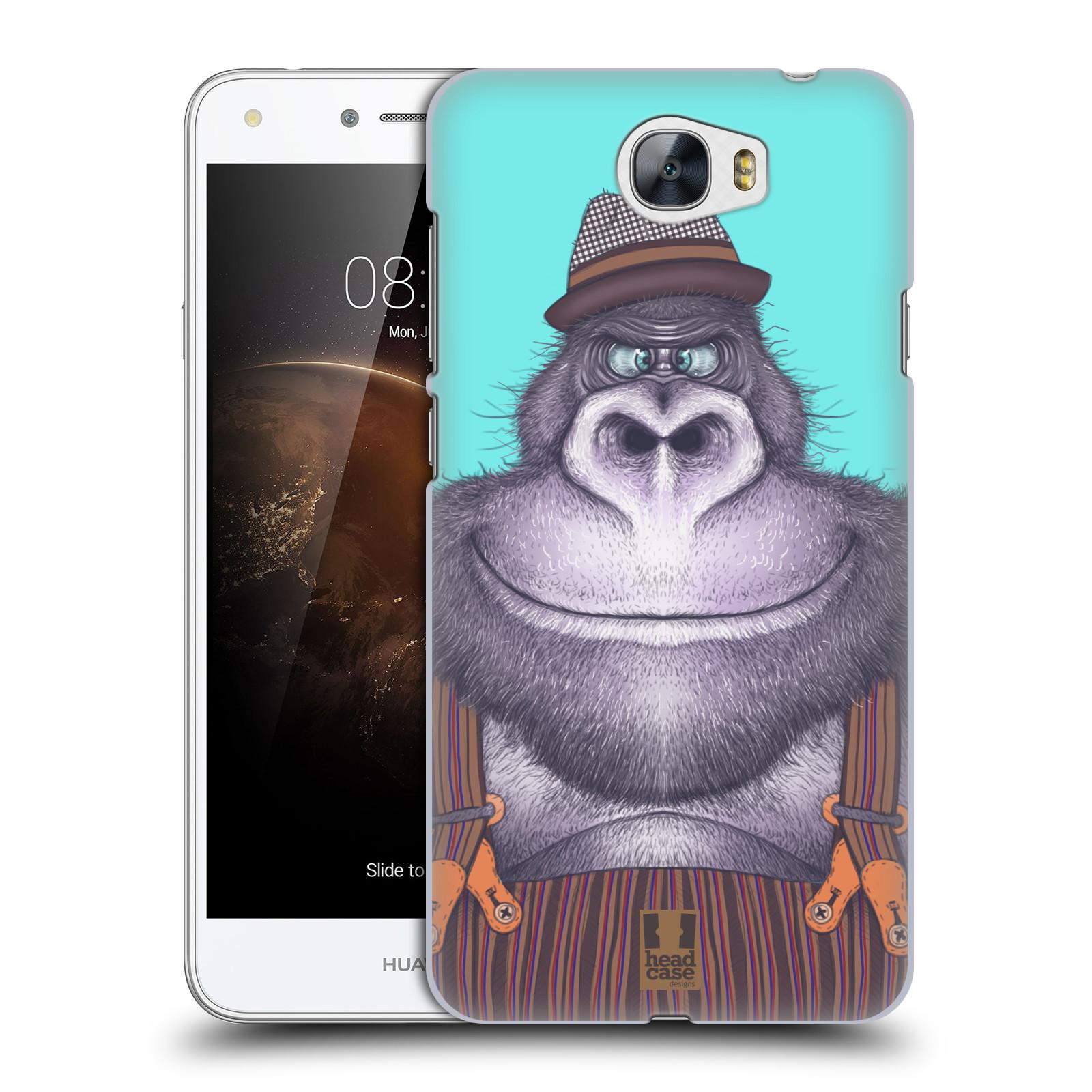 Plastové pouzdro na mobil Huawei Y5 II HEAD CASE ANIMPLA GORILÁK