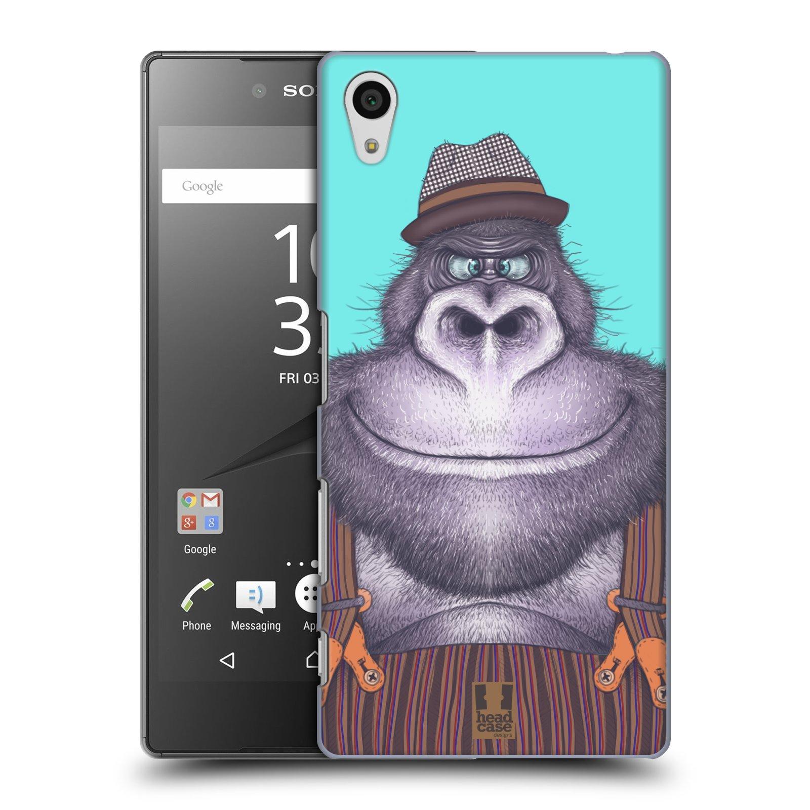Plastové pouzdro na mobil Sony Xperia Z5 HEAD CASE ANIMPLA GORILÁK