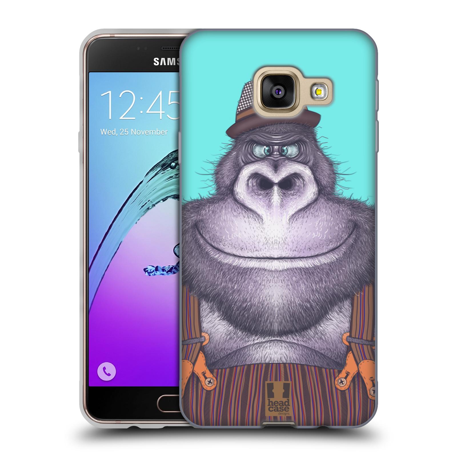 Silikonové pouzdro na mobil Samsung Galaxy A3 (2016) HEAD CASE ANIMPLA GORILÁK