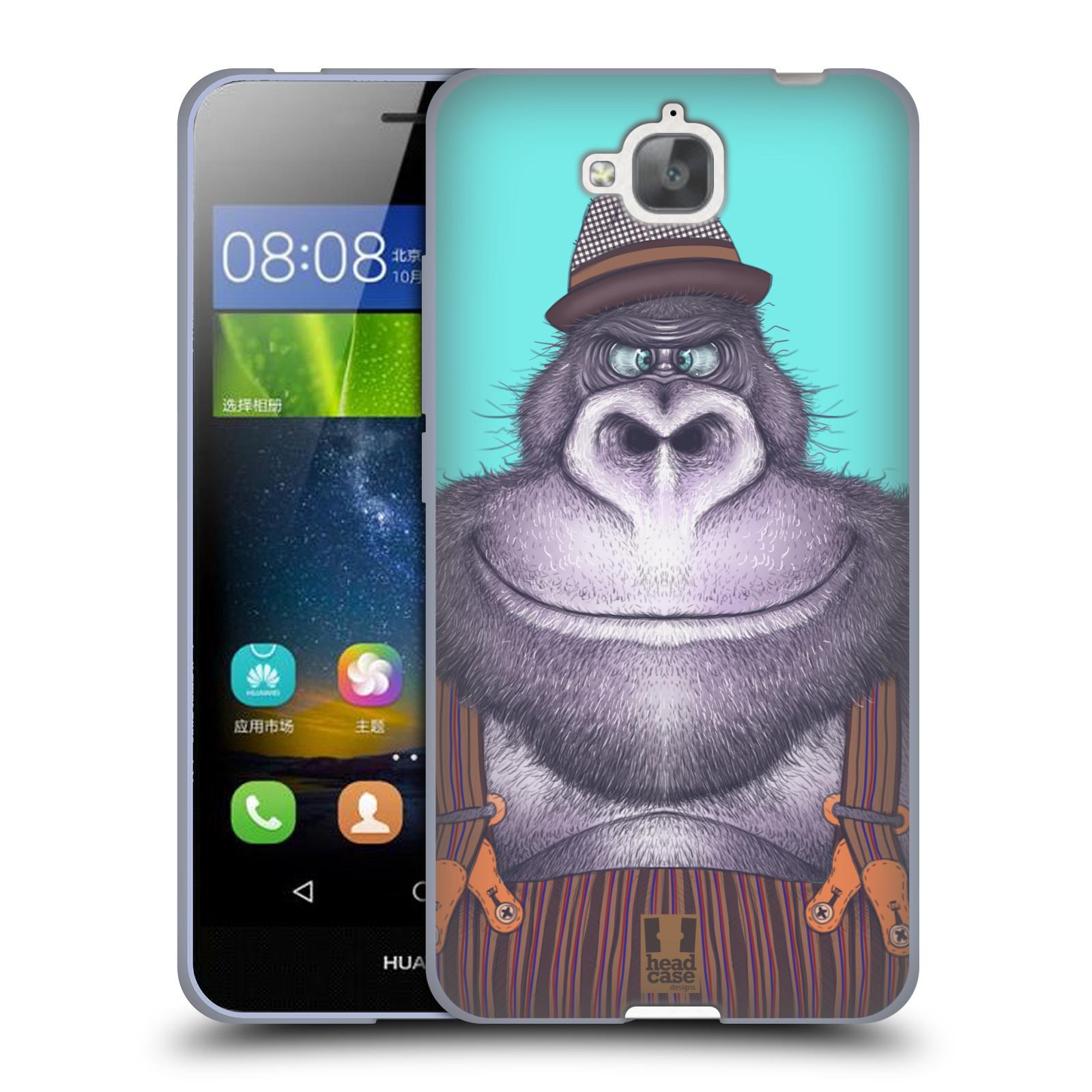 Silikonové pouzdro na mobil Huawei Y6 Pro Dual Sim HEAD CASE ANIMPLA GORILÁK