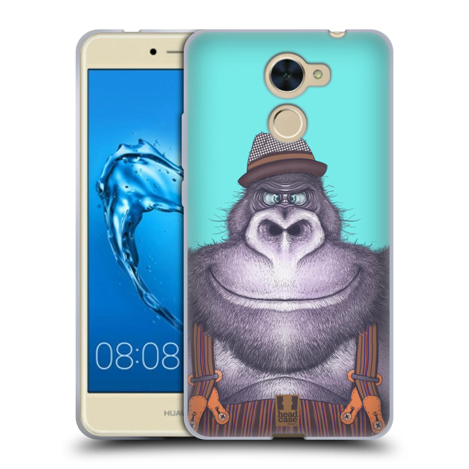 Silikonové pouzdro na mobil Huawei Y7 - Head Case - ANIMPLA GORILÁK