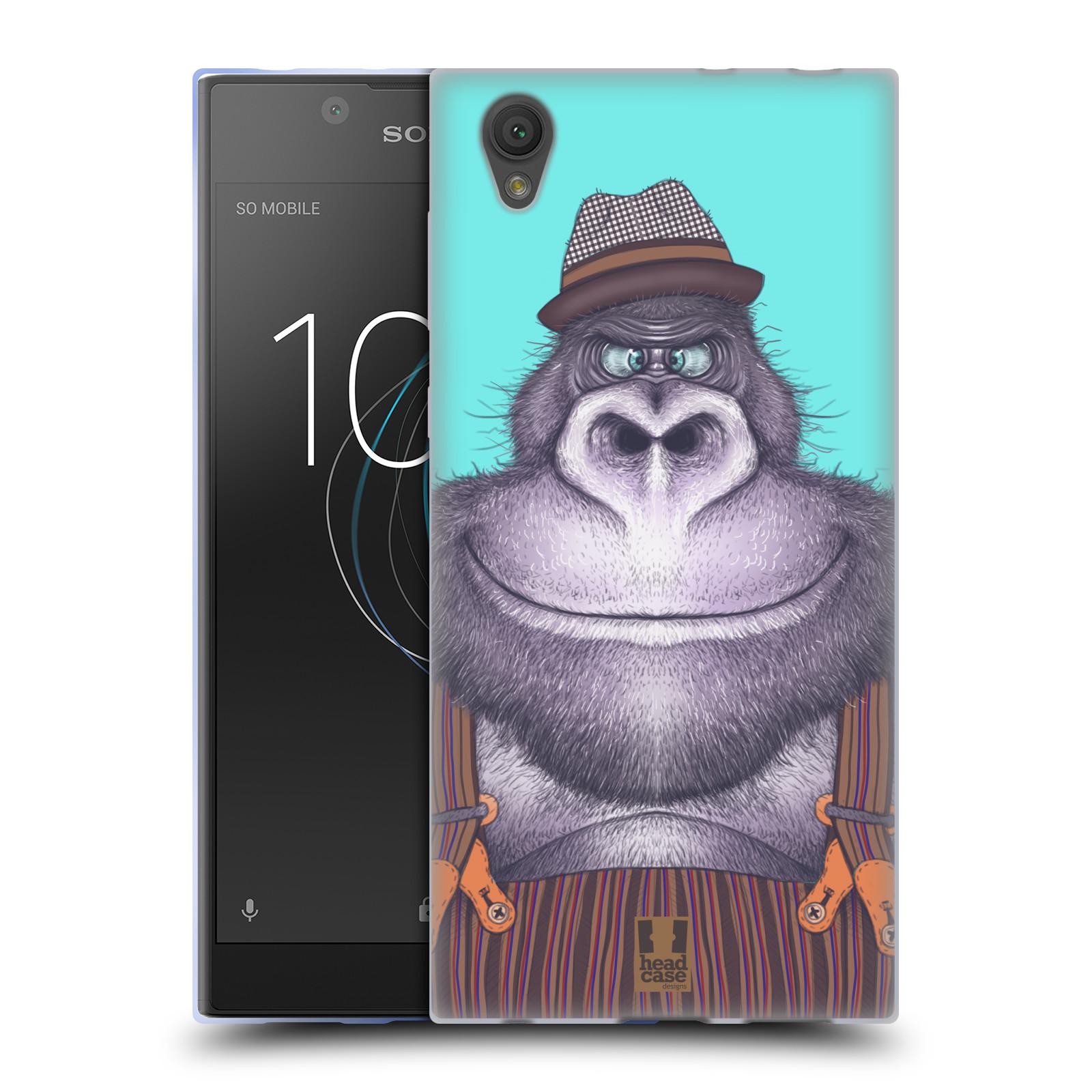 Silikonové pouzdro na mobil Sony Xperia L1 - Head Case - ANIMPLA GORILÁK