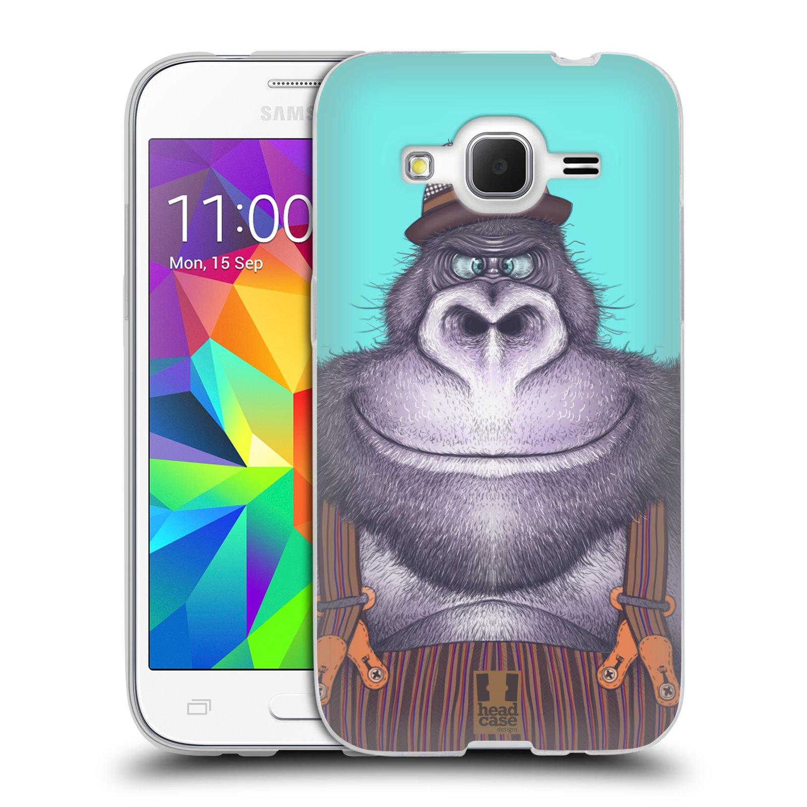 Silikonové pouzdro na mobil Samsung Galaxy Core Prime LTE HEAD CASE ANIMPLA GORILÁK