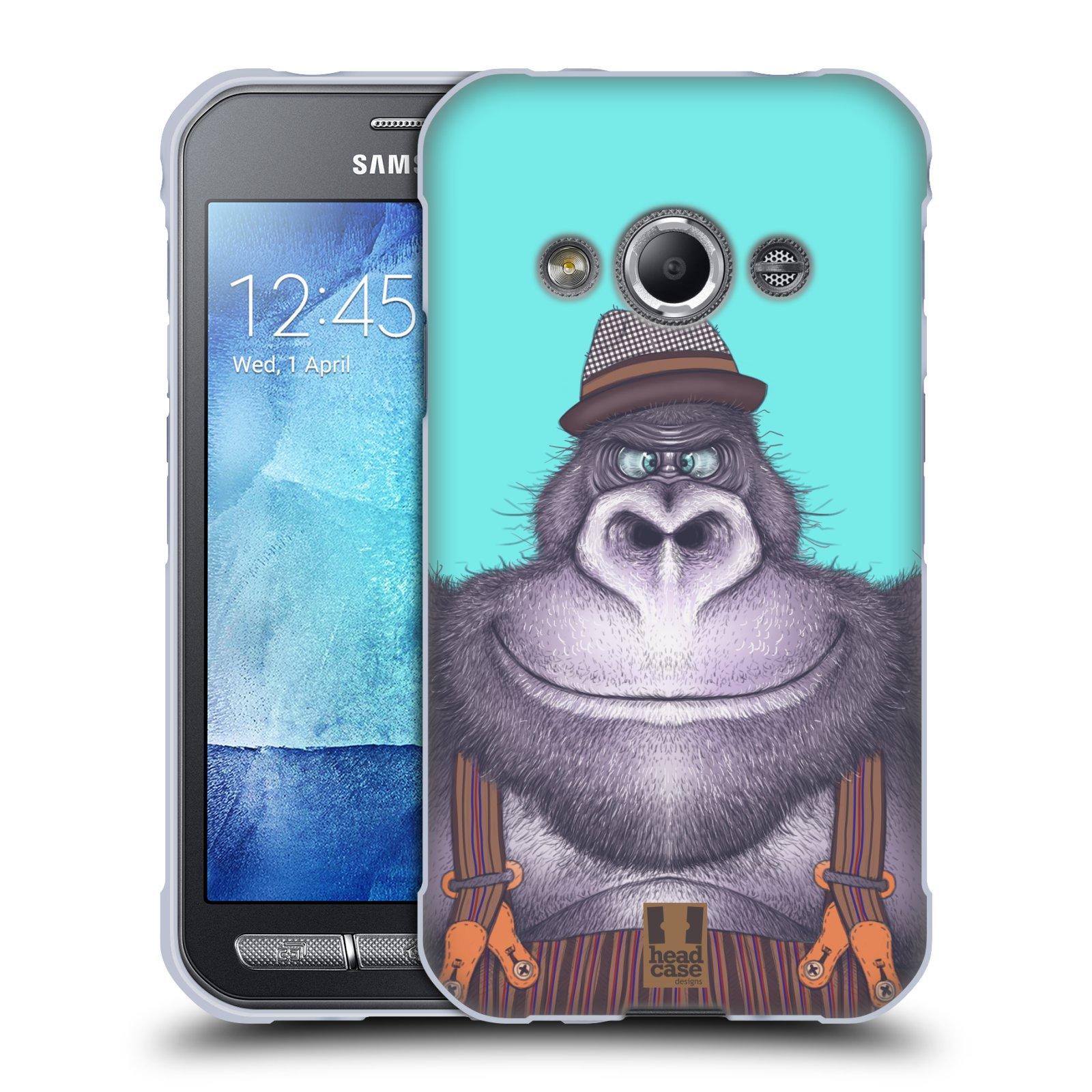 Silikonové pouzdro na mobil Samsung Galaxy Xcover 3 HEAD CASE ANIMPLA GORILÁK