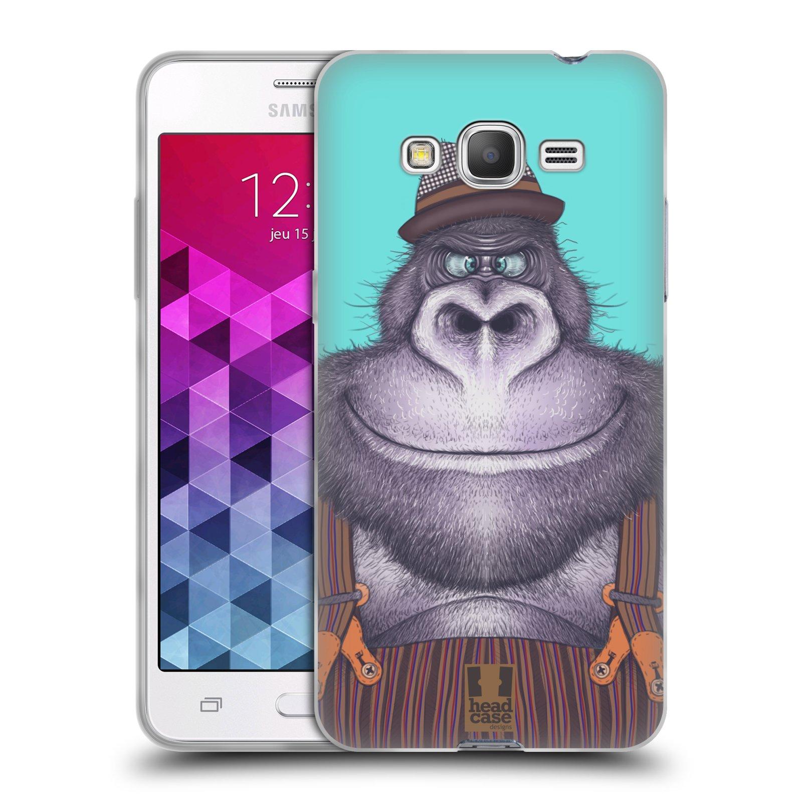 Silikonové pouzdro na mobil Samsung Galaxy Grand Prime VE HEAD CASE ANIMPLA GORILÁK