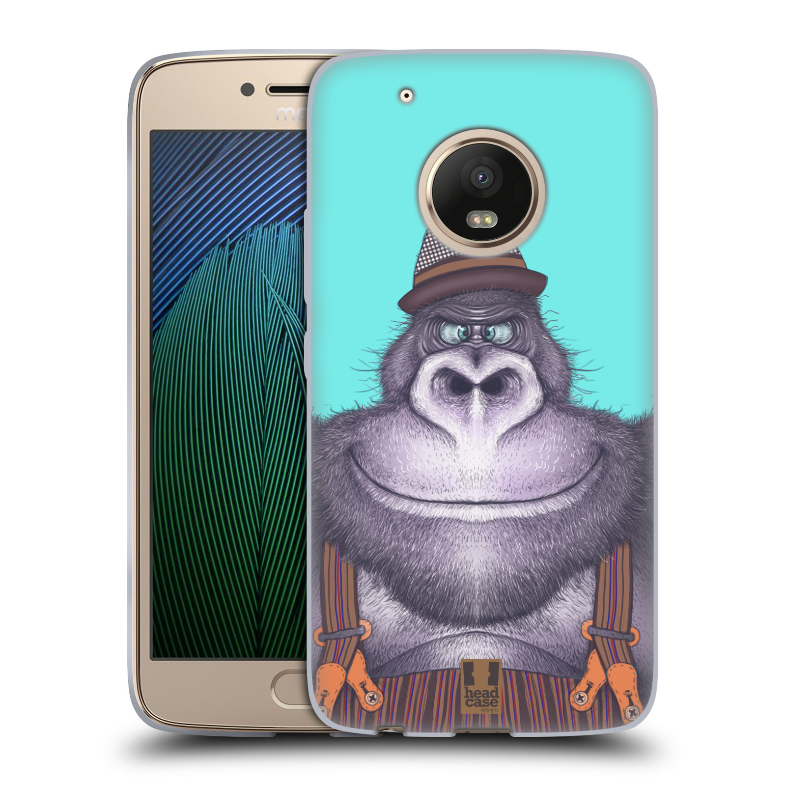 Silikonové pouzdro na mobil Lenovo Moto G5 Plus - Head Case ANIMPLA GORILÁK